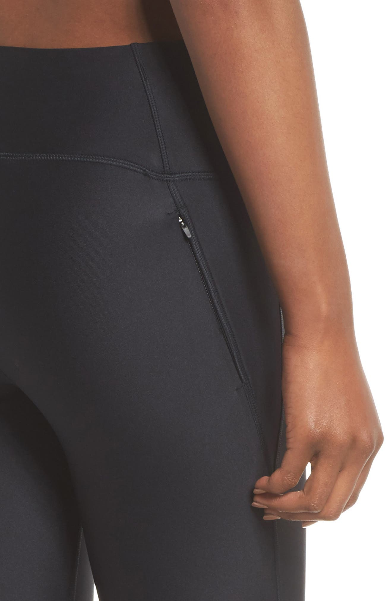 Fly Fast Tights,                             Alternate thumbnail 4, color,                             Black