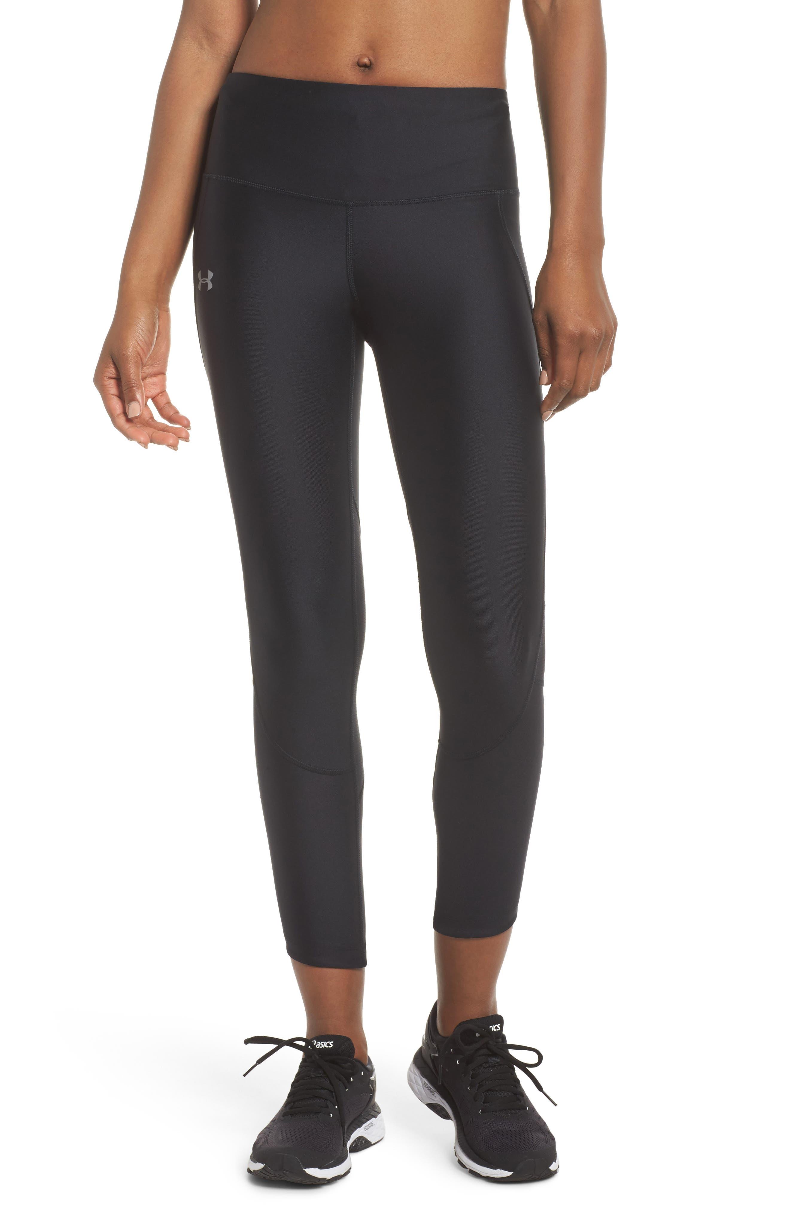 Fly Fast HeatGear<sup>®</sup> Crop Leggings,                         Main,                         color, Black