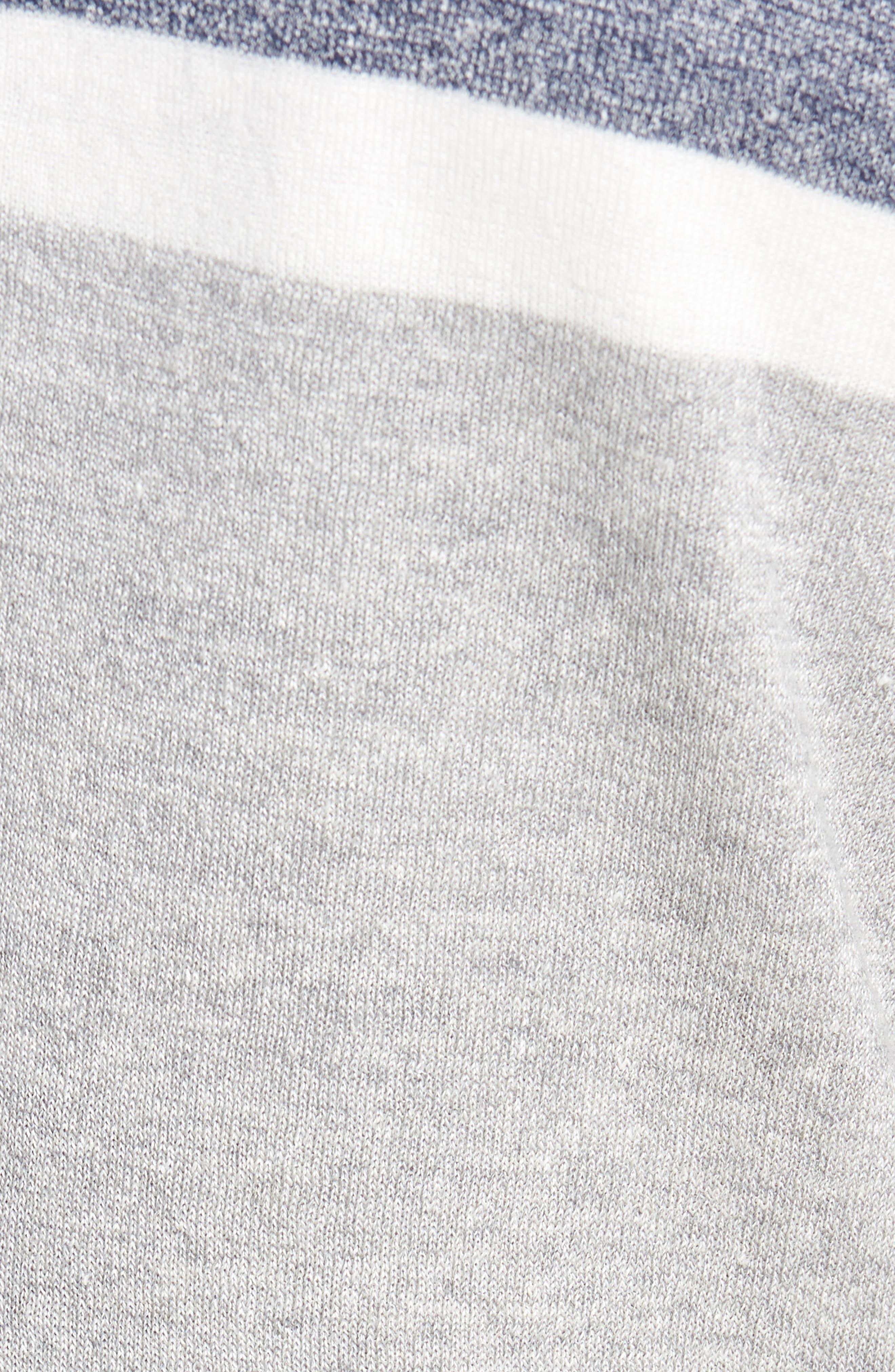 Colorblock Sweater Jacket,                             Alternate thumbnail 5, color,                             Grey