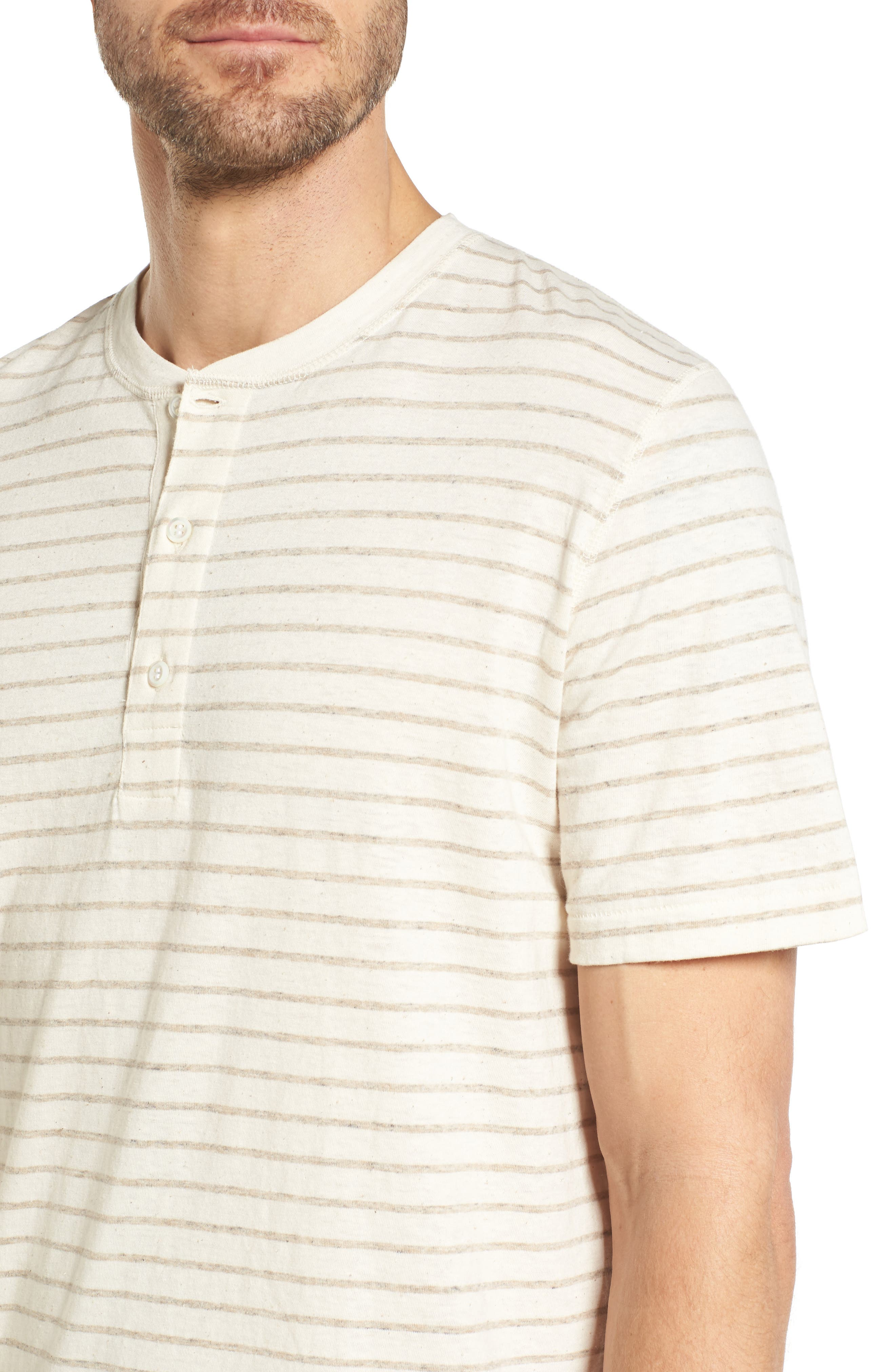 Slim Fit Henley,                             Alternate thumbnail 4, color,                             Oatmeal