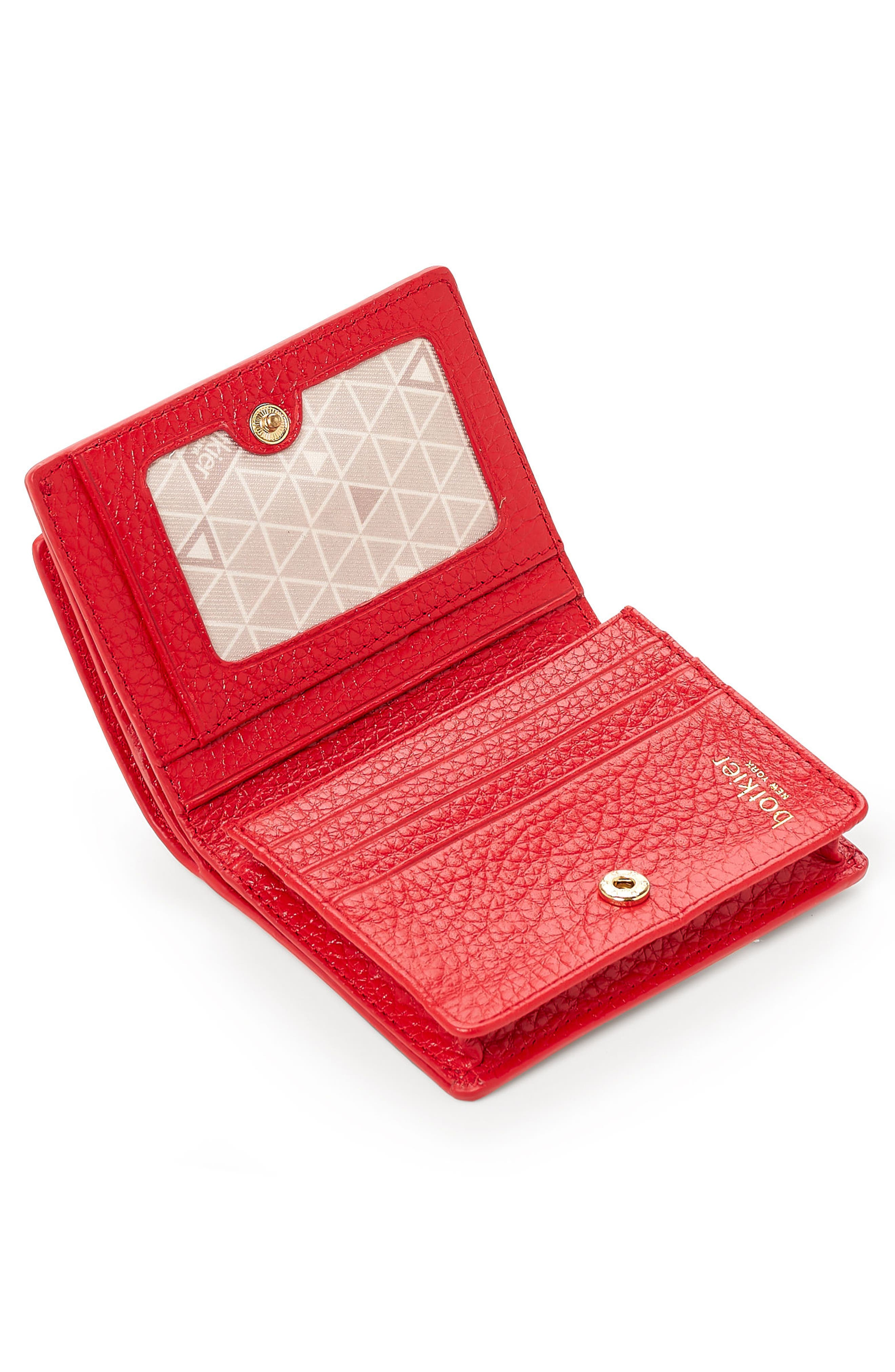 Soho Mini Leather Wallet,                             Alternate thumbnail 2, color,                             Poppy