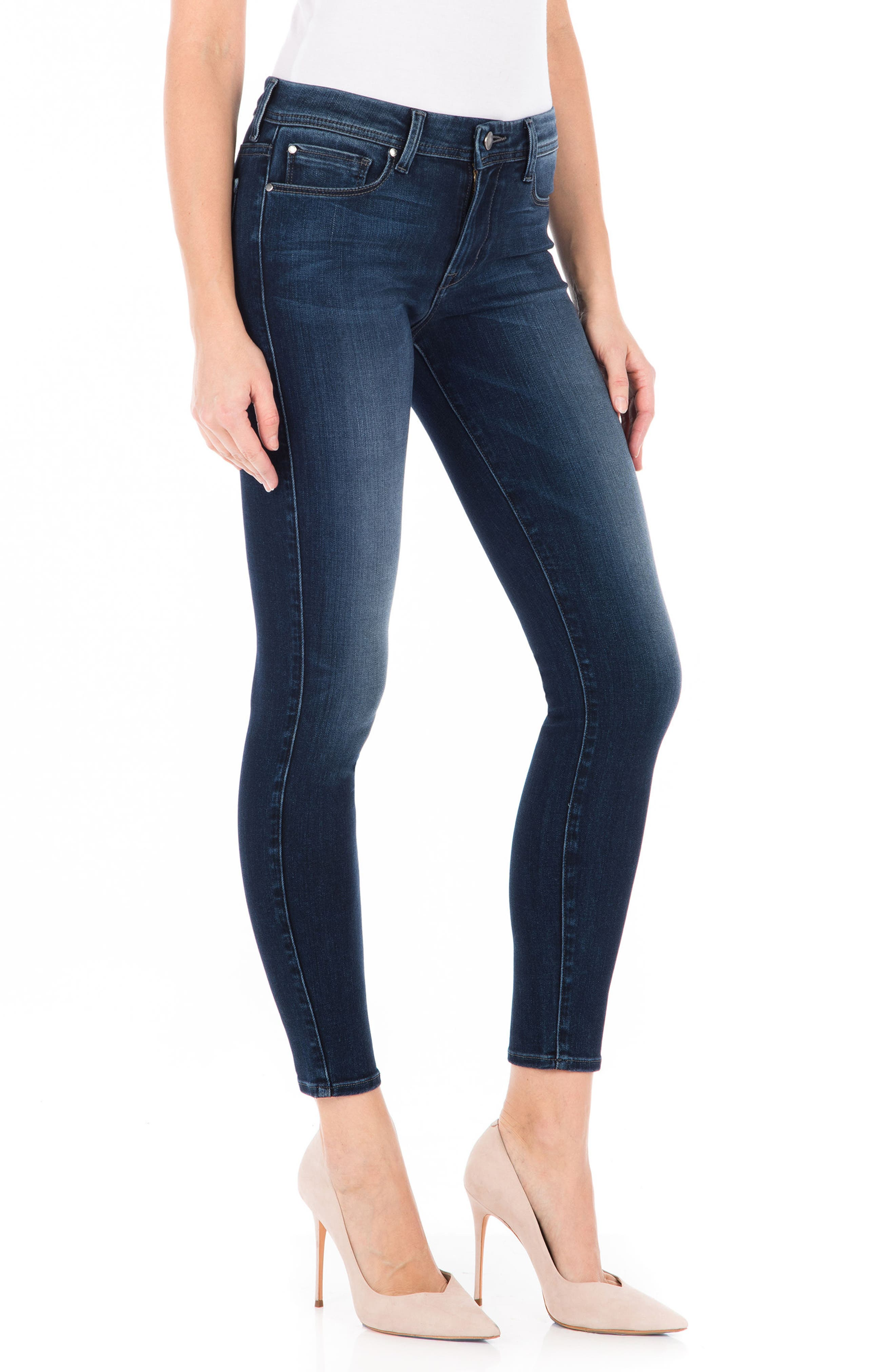 Sola Skinny Jeans,                             Alternate thumbnail 3, color,                             Blue Suede