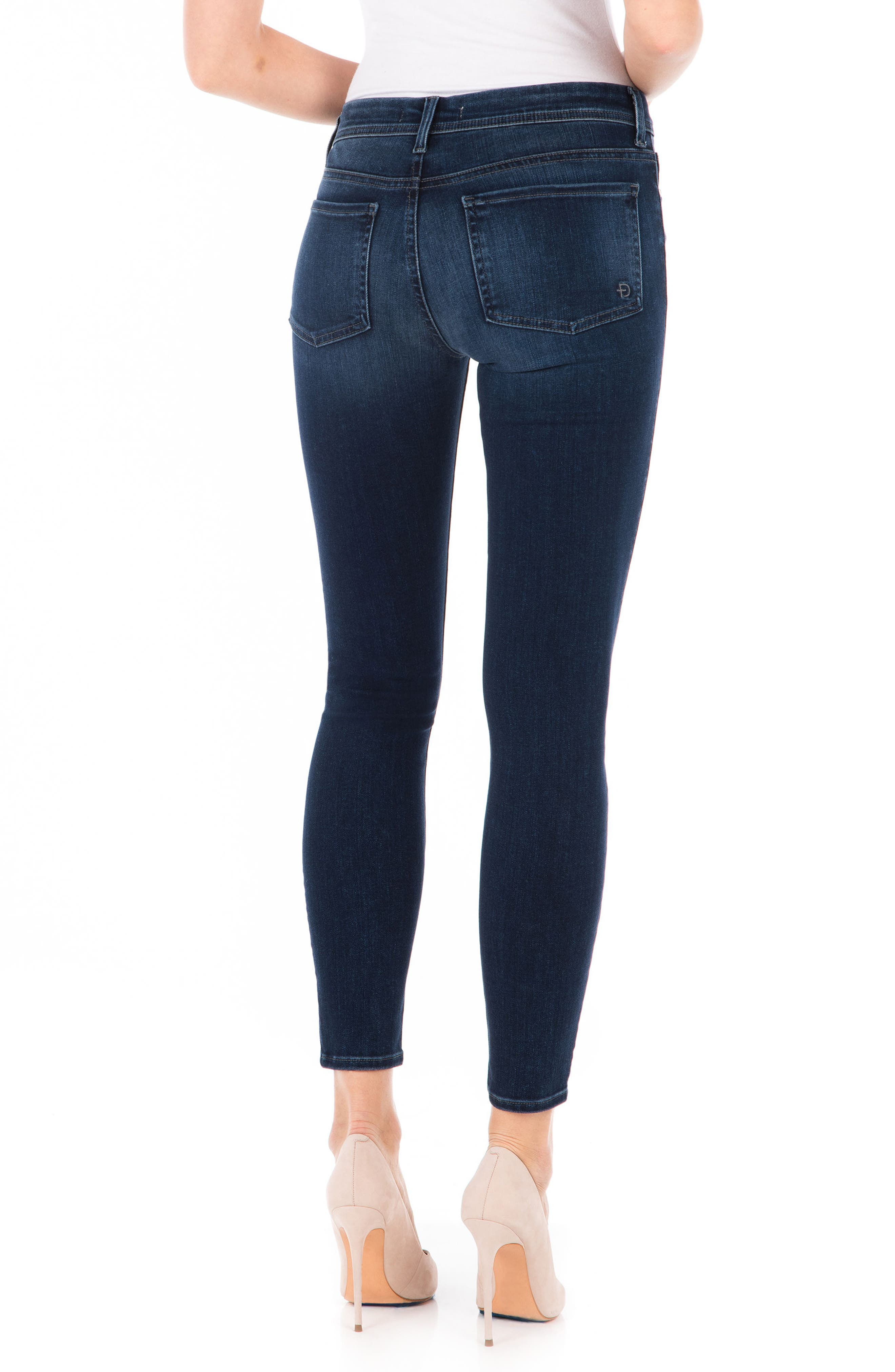 Sola Skinny Jeans,                             Alternate thumbnail 2, color,                             Blue Suede