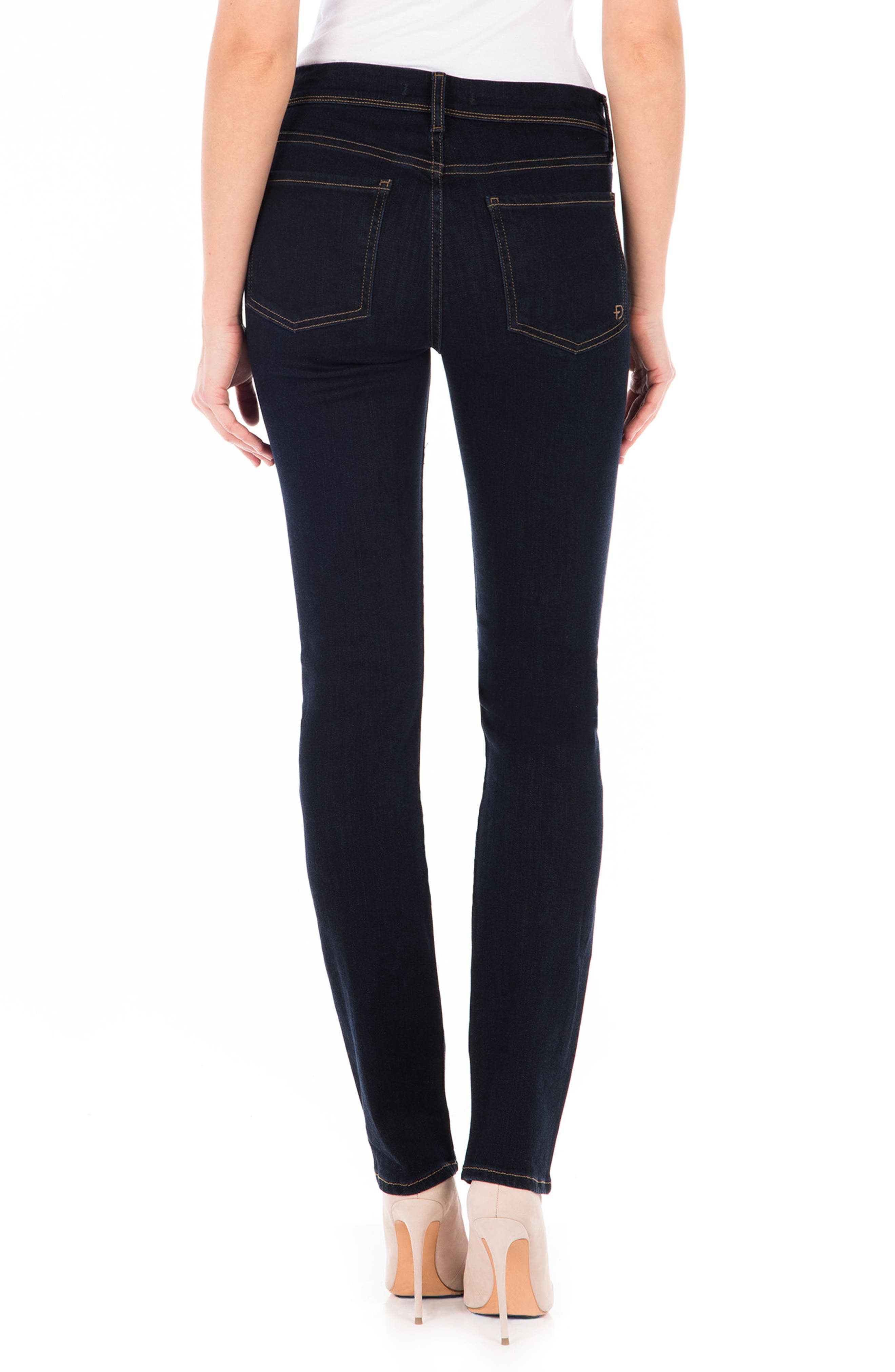 Stevie Straight Leg Jeans,                             Alternate thumbnail 2, color,                             Artic Blue