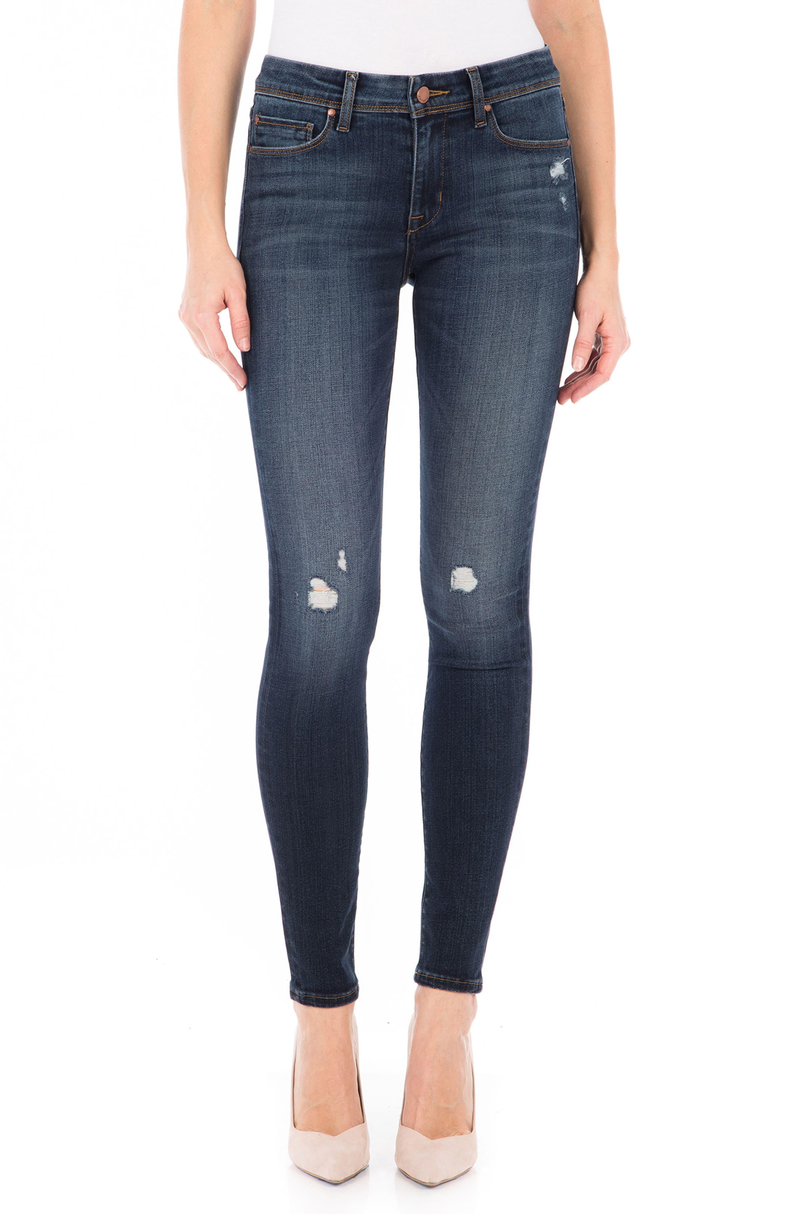 Belvedere Skinny Jeans,                             Main thumbnail 1, color,                             Refinery Blue