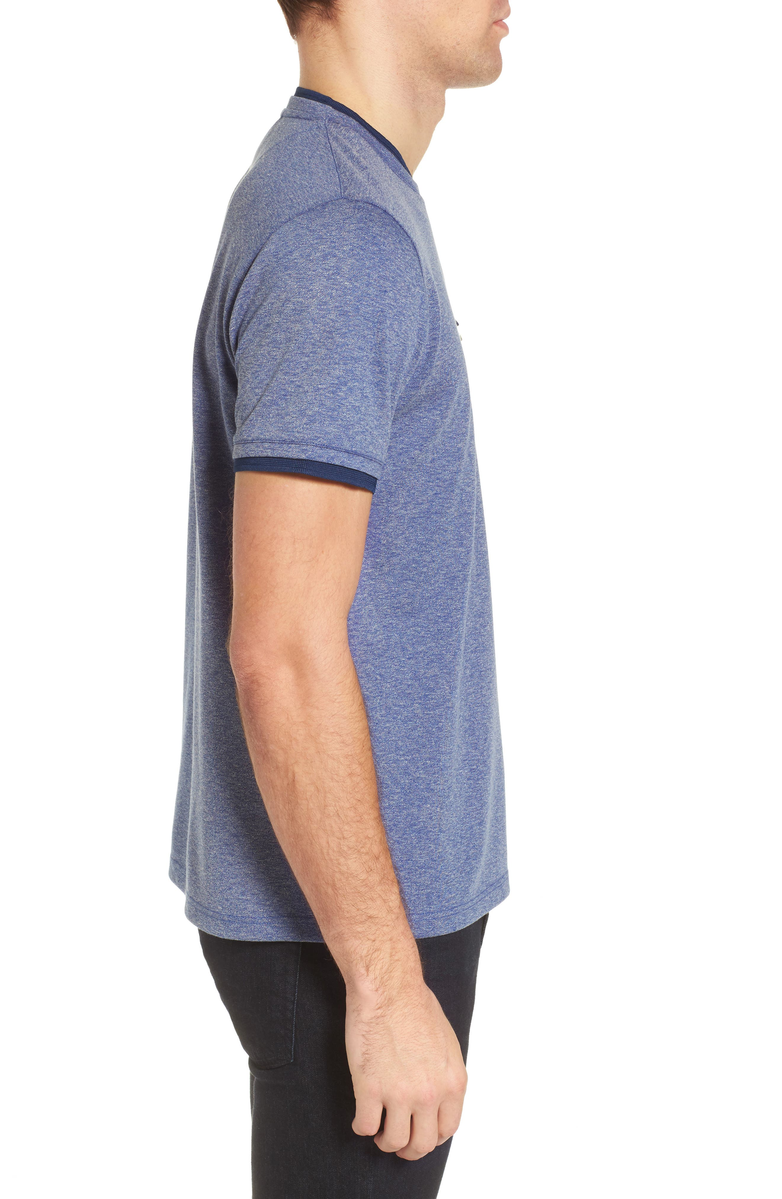 Alternate Image 3  - Ted Baker London Climb Mouline Layered Pocket T-Shirt