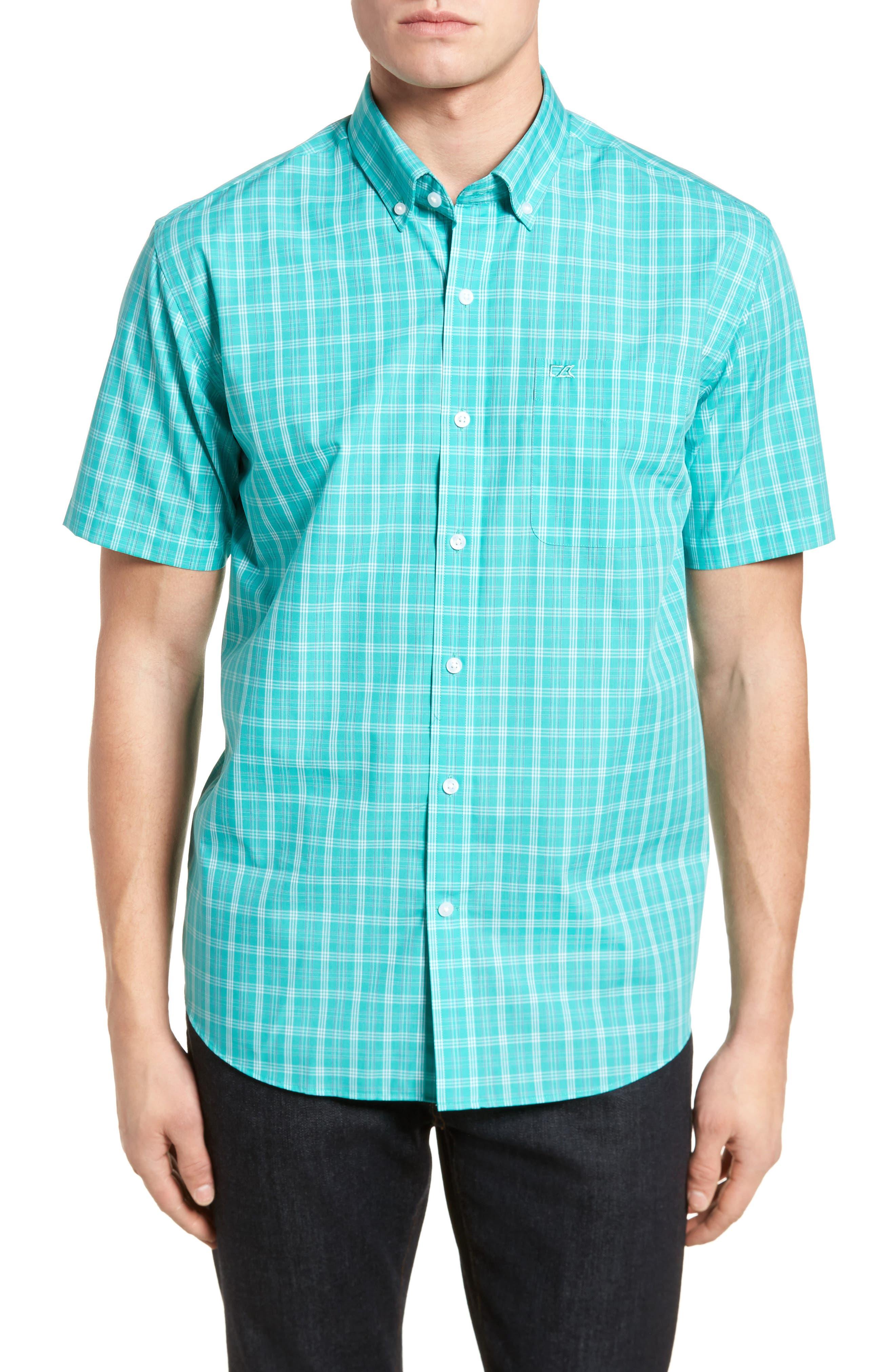 Cutter & Buck Leo Plaid Easy Care Woven Shirt