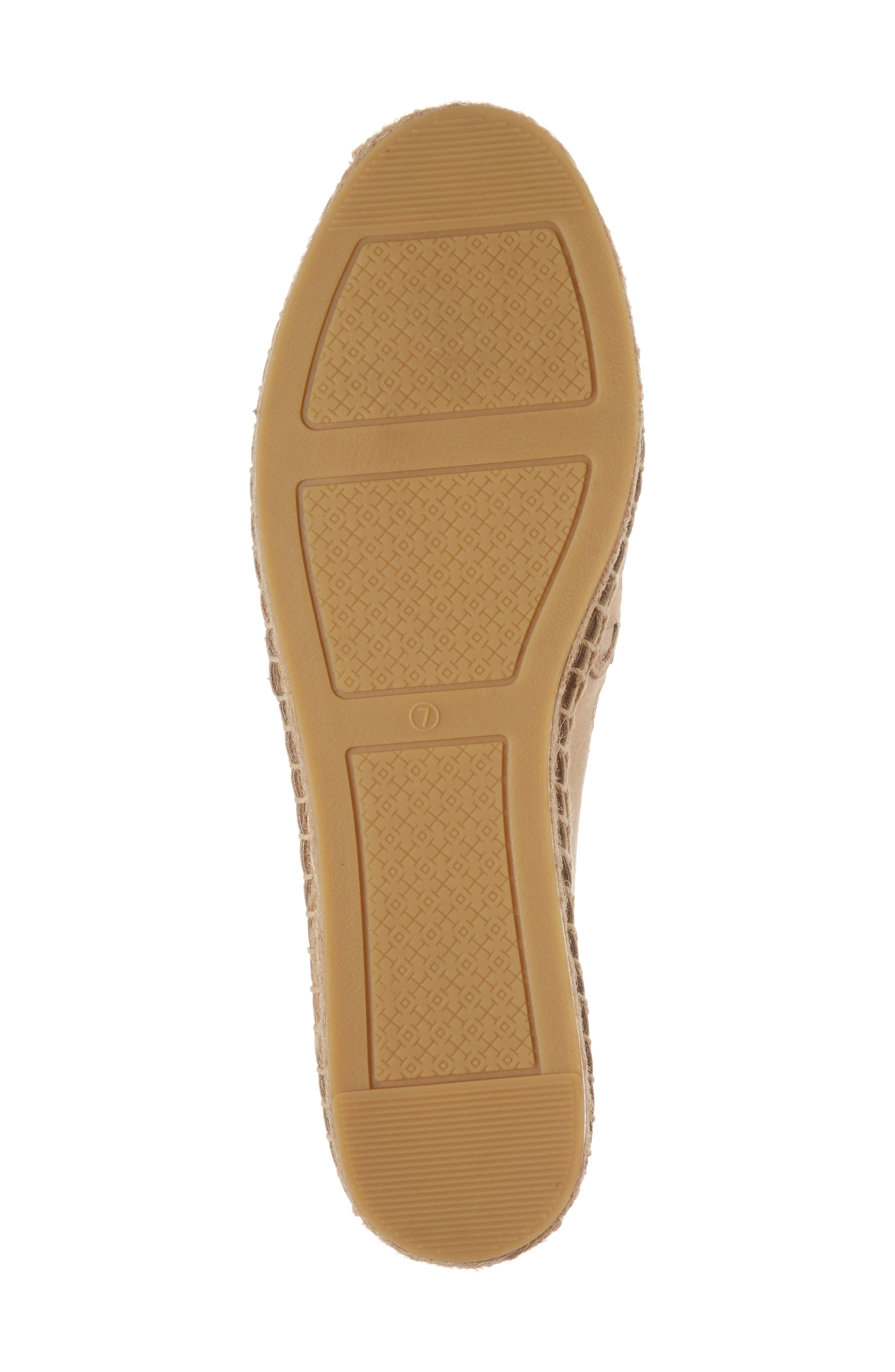 May Perforated Espadrille Flat,                             Alternate thumbnail 6, color,                             Desert Blush