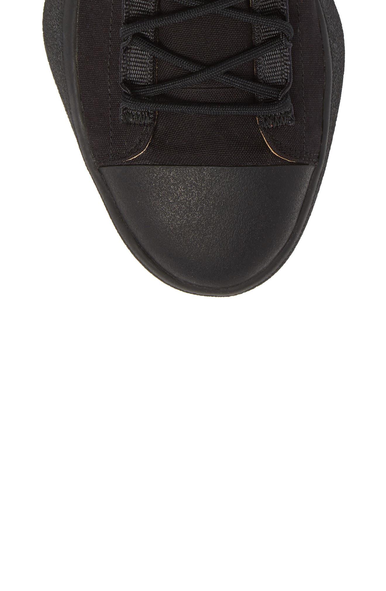 x adidas Bashyo High Top Sneaker,                             Alternate thumbnail 5, color,                             Black