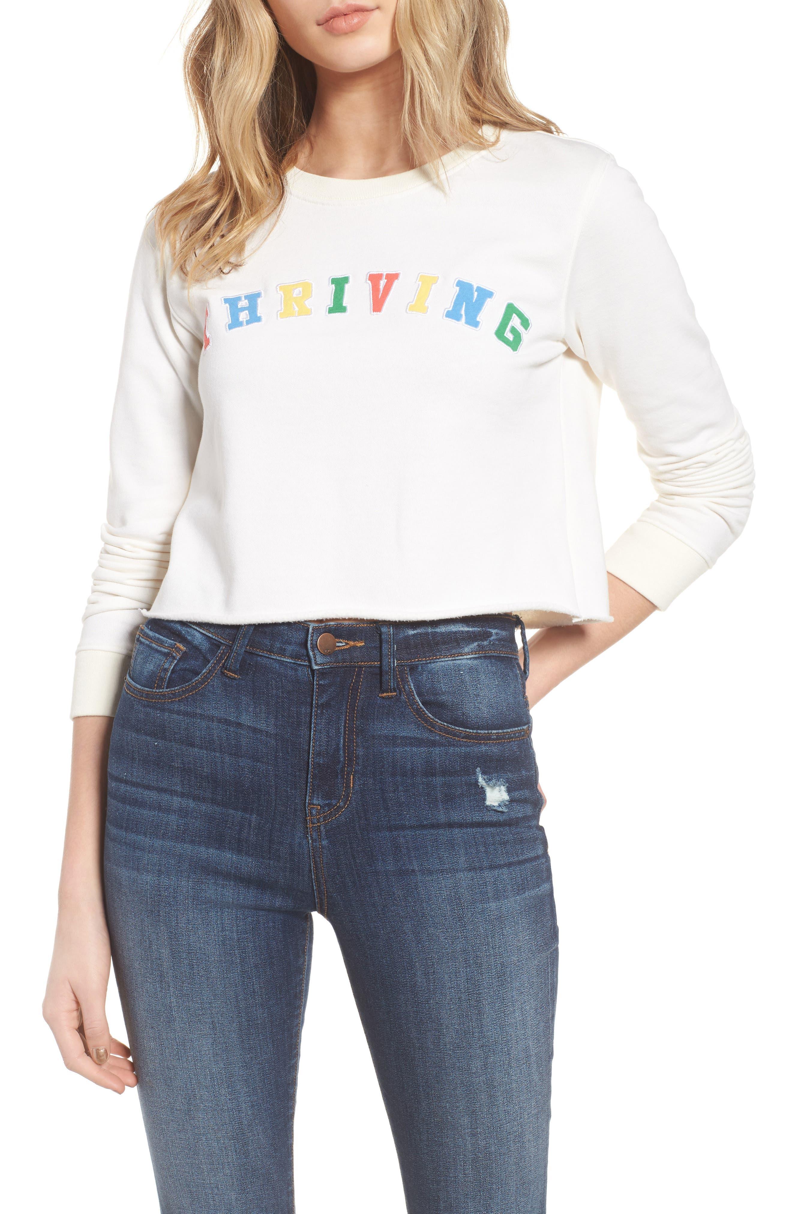 Alternate Image 1 Selected - Desert Dreamer Thriving Crop Sweatshirt