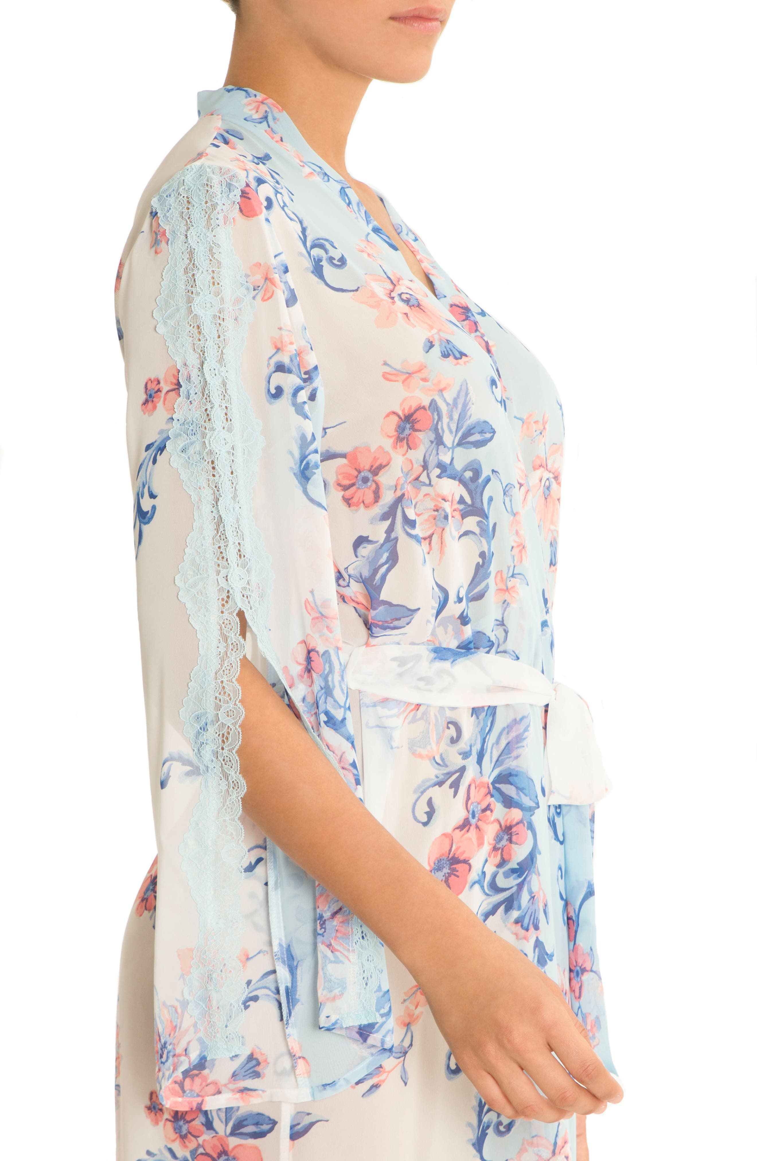Alternate Image 3  - In Bloom by Jonquil Chiffon Wrap