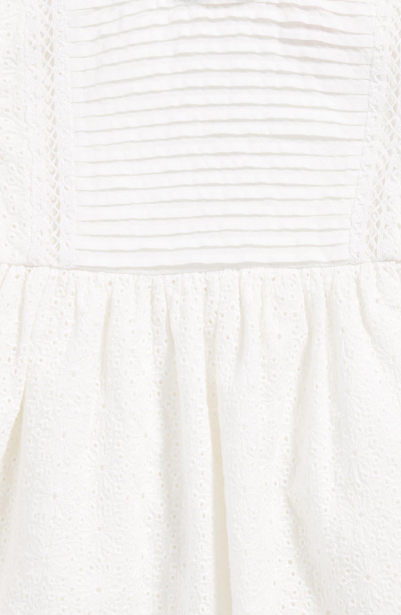 Lace Dress,                             Alternate thumbnail 3, color,                             White
