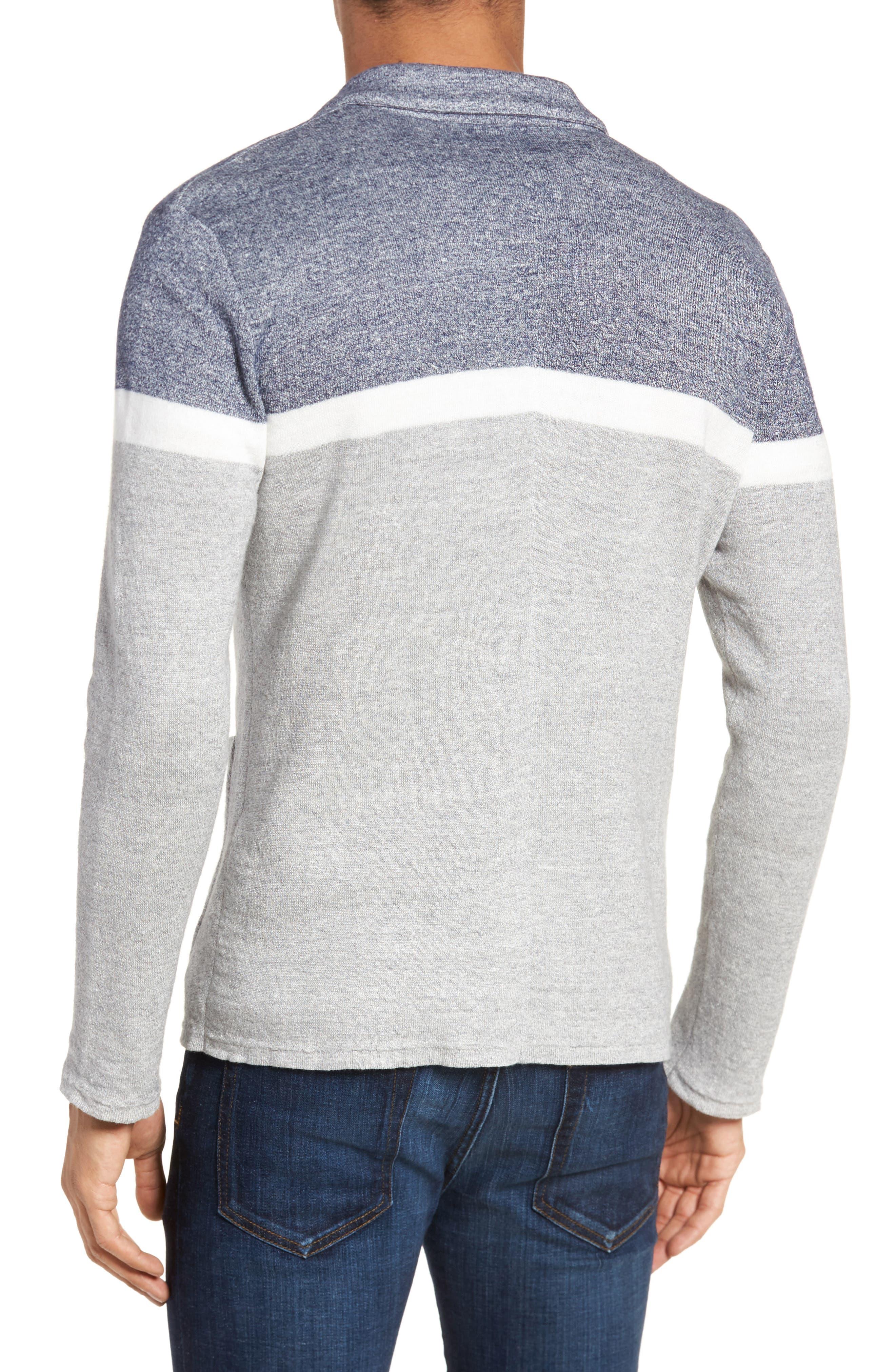 Colorblock Sweater Jacket,                             Alternate thumbnail 2, color,                             Grey