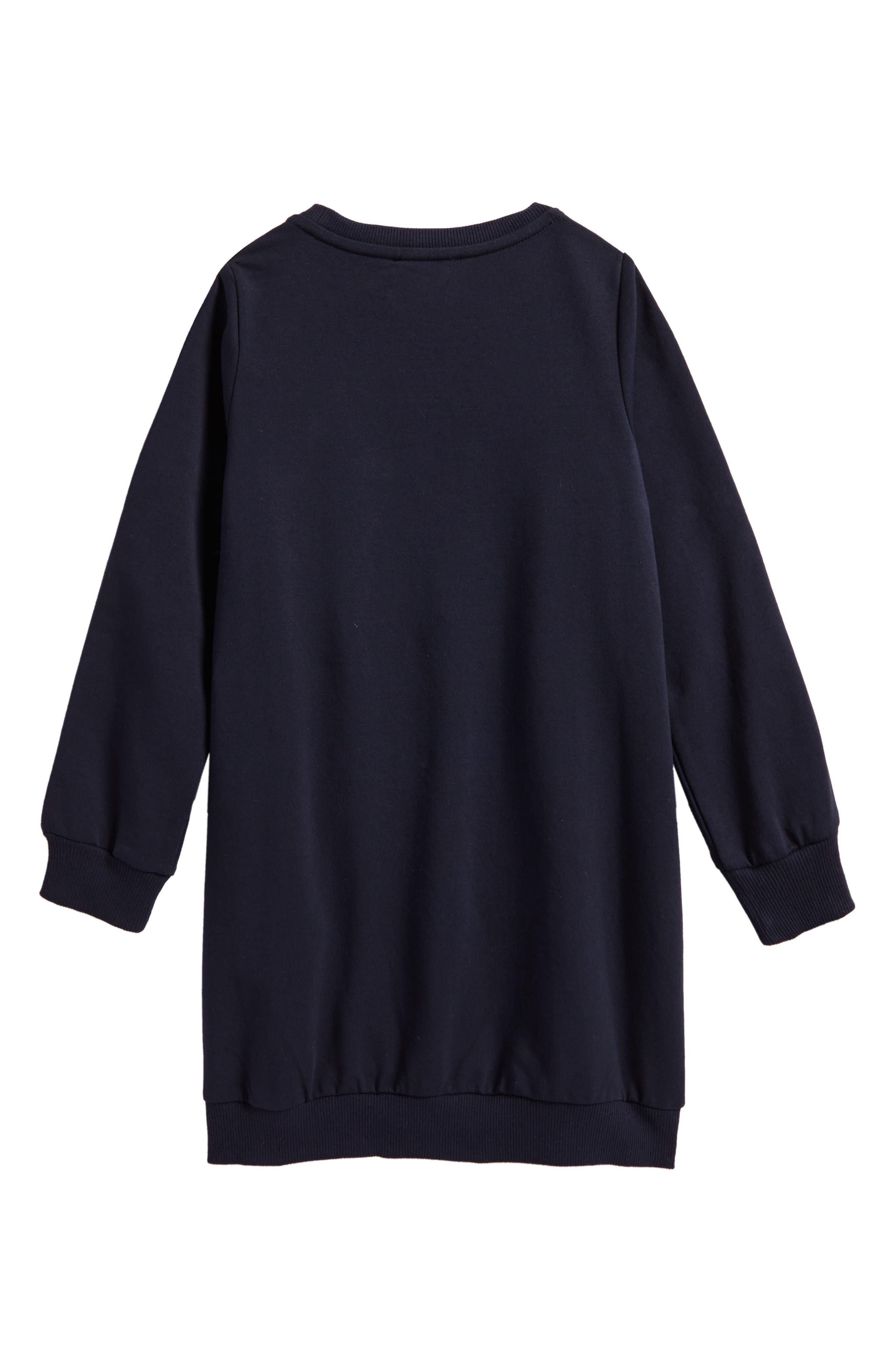 Alternate Image 2  - Moncler Sweatshirt Dress (Little Girls & Big Girls)