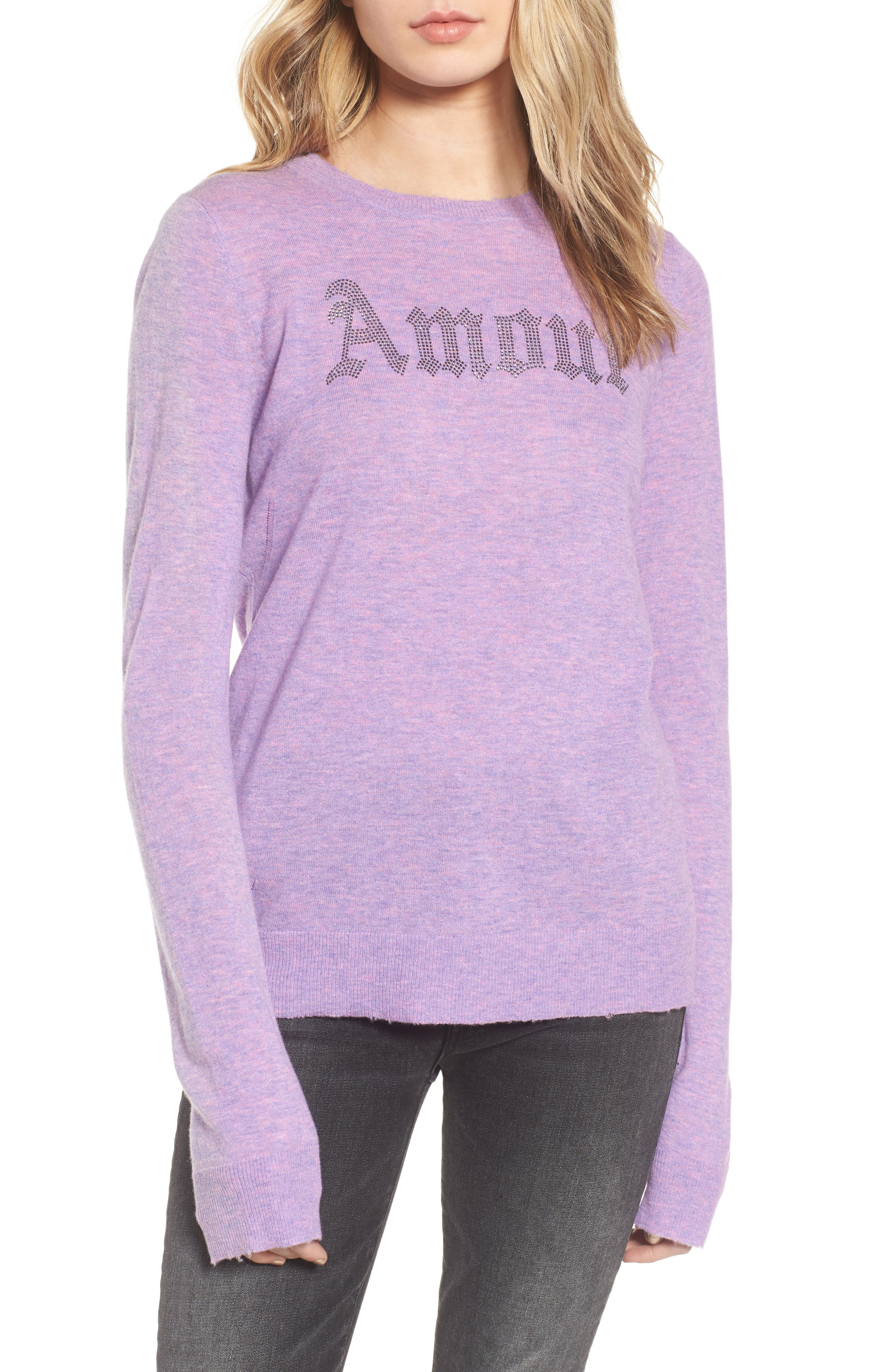 Miss Bis Cashmere Sweater,                         Main,                         color, Lilac