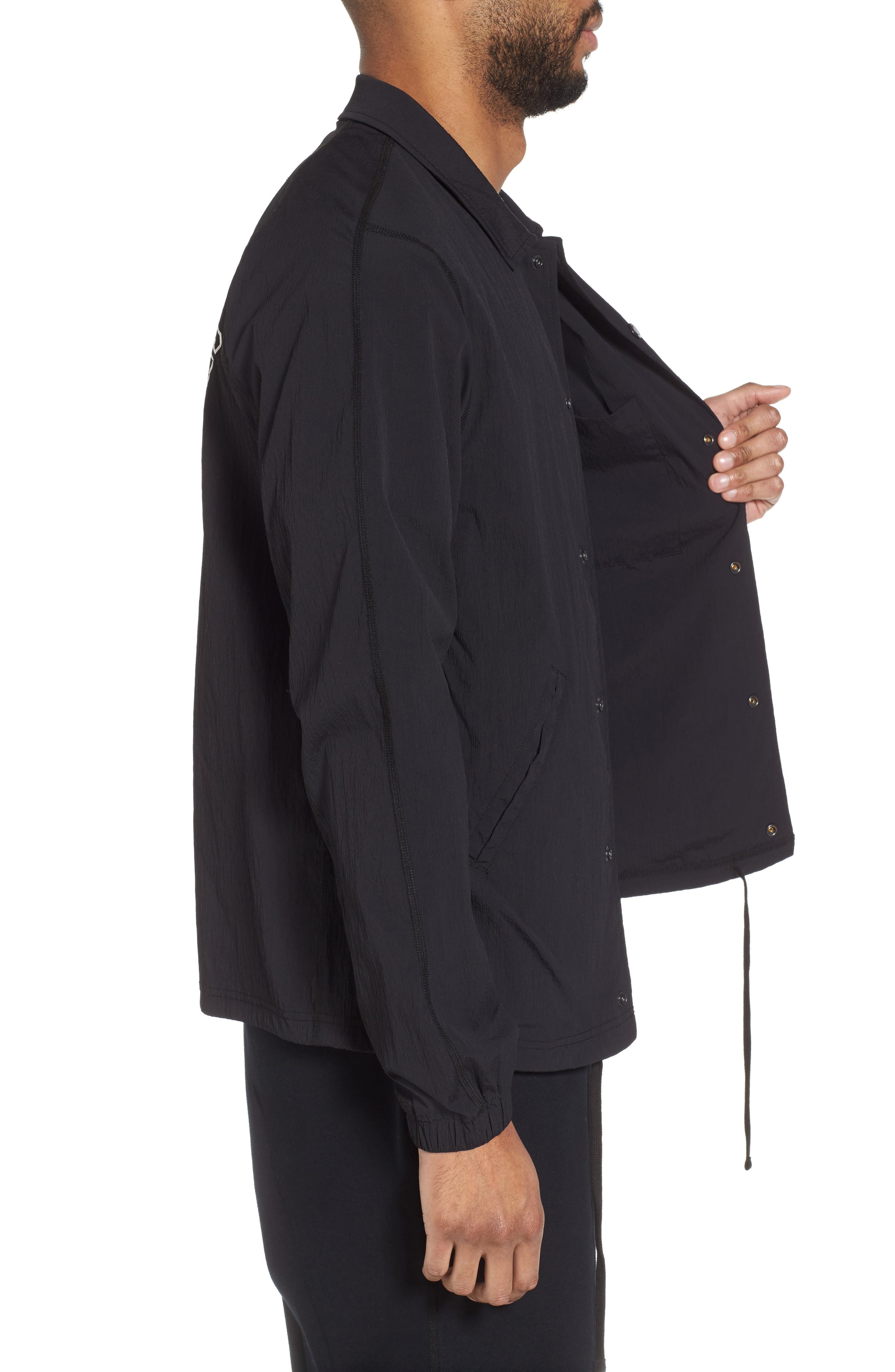 Coach's Jacket,                             Alternate thumbnail 3, color,                             Black