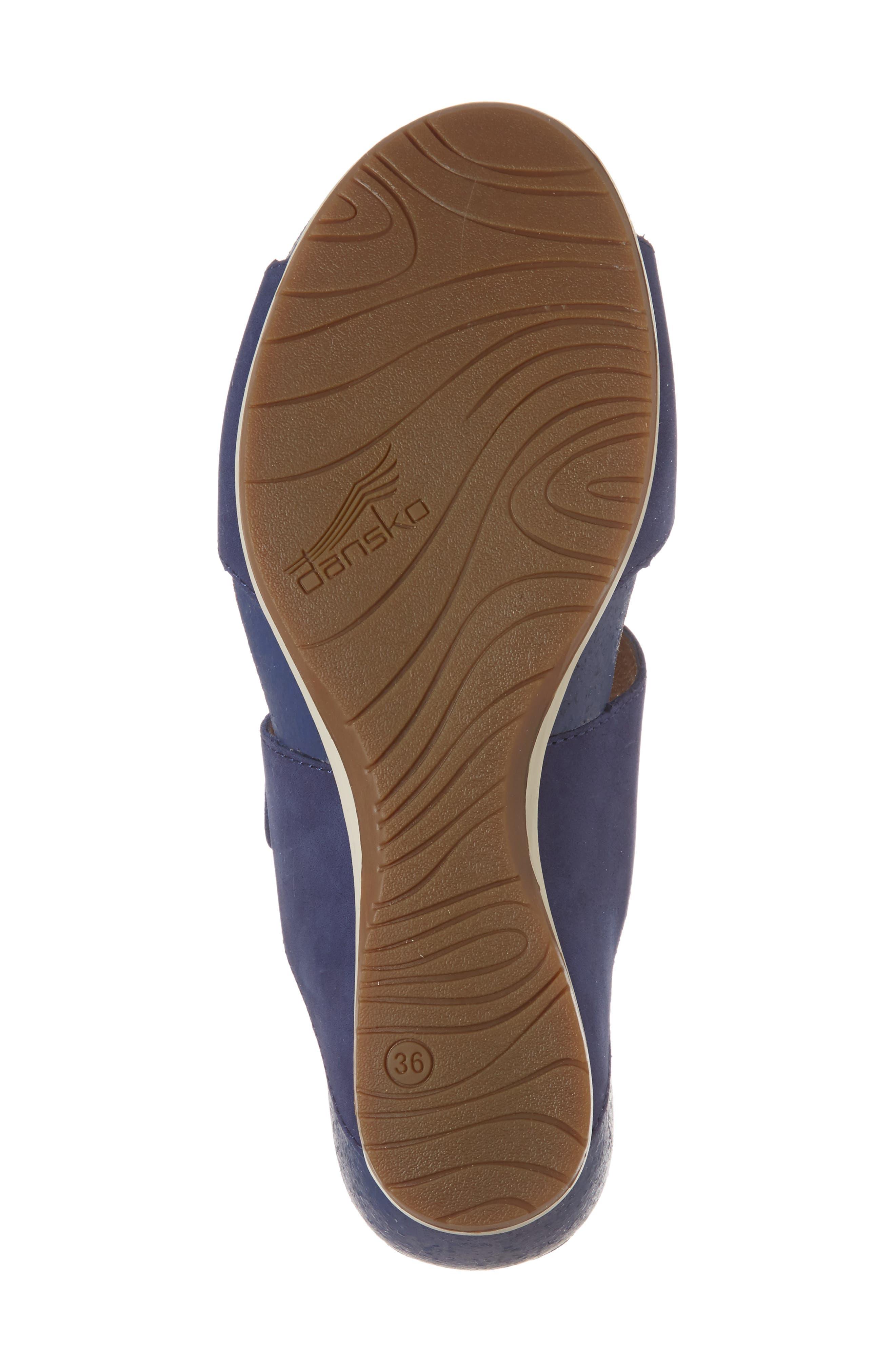 Vienna Slide Sandal,                             Alternate thumbnail 6, color,                             Blue Milled Nubuck Leather