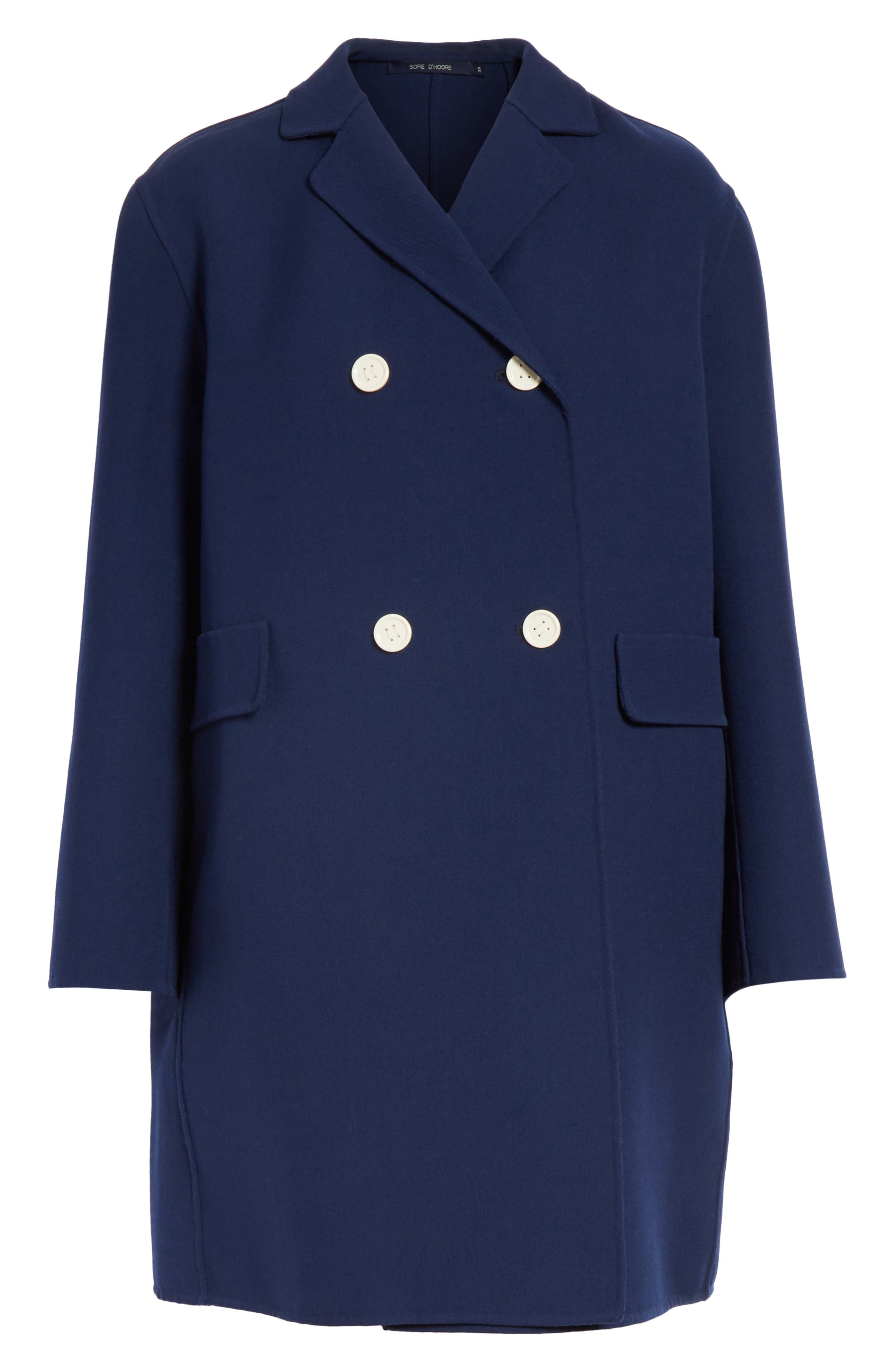 Contrast Button Peacoat,                             Alternate thumbnail 6, color,                             Navy