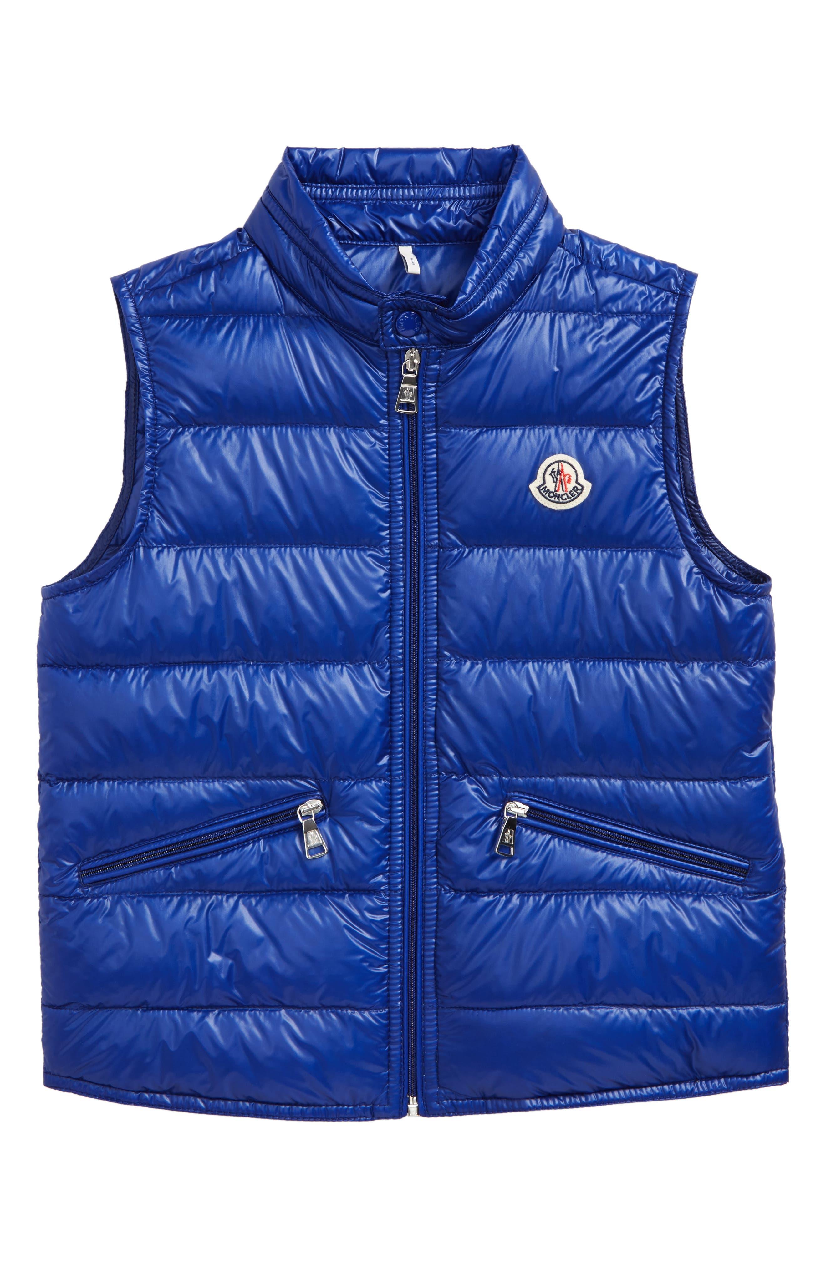 Guilt Down Puffer Vest,                         Main,                         color, Bright Blue