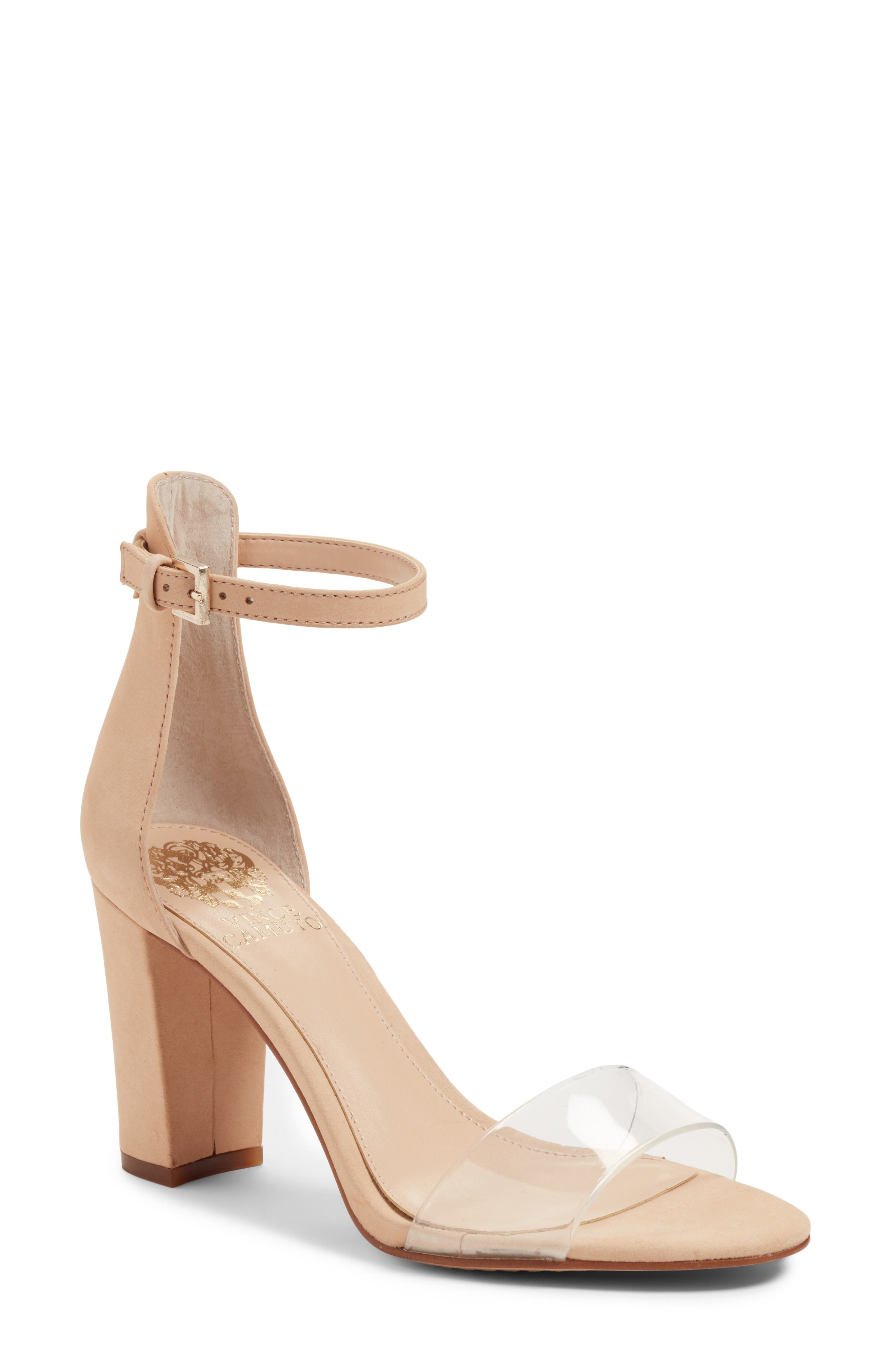 Bone color dress sandals