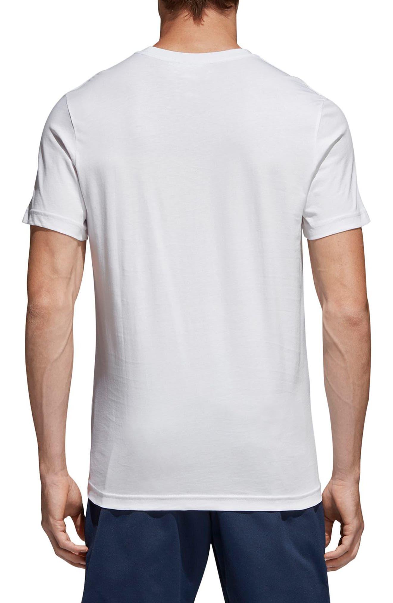 Tongue Label T-Shirt,                             Alternate thumbnail 2, color,                             White