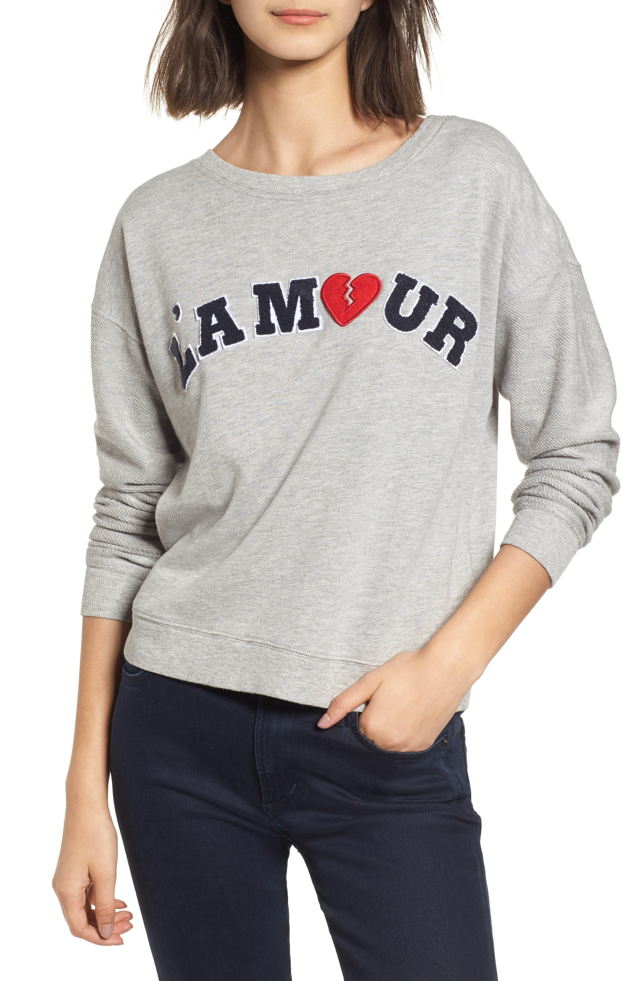 Kelli Paris Sweatshirt,                         Main,                         color, Lamour