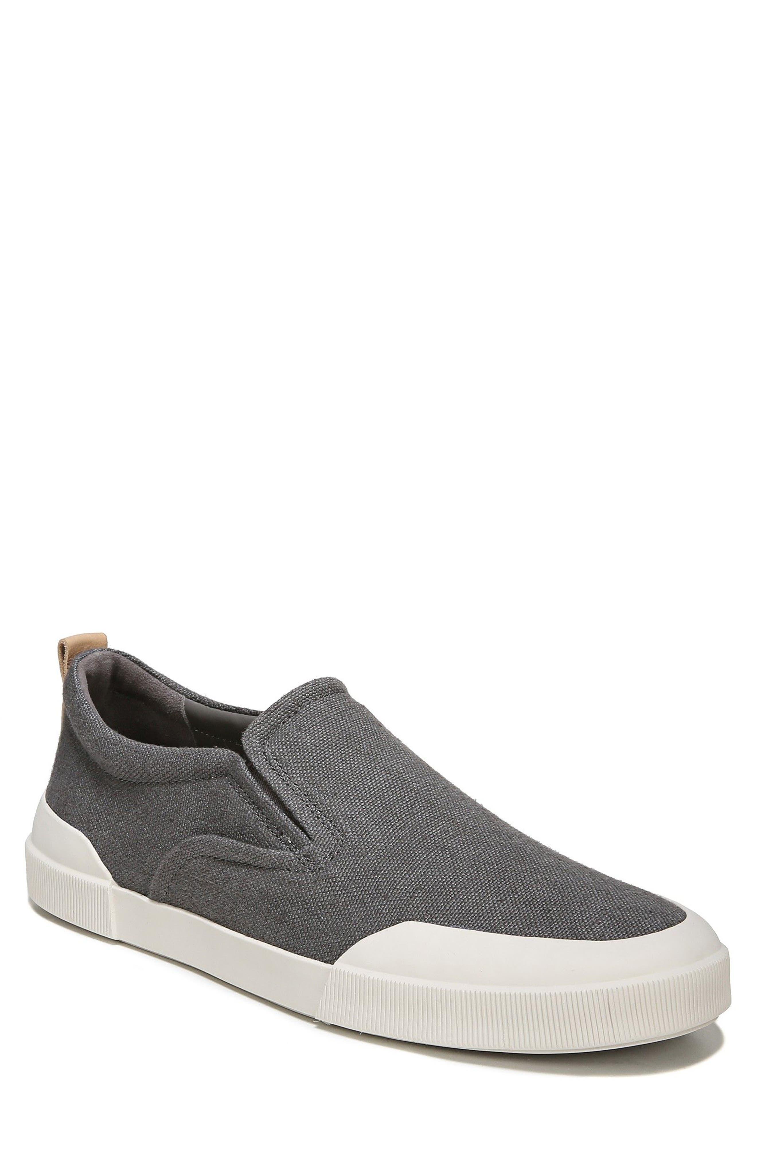Vernon Slip-On Sneaker,                             Main thumbnail 1, color,                             Graphite/ Cuoio