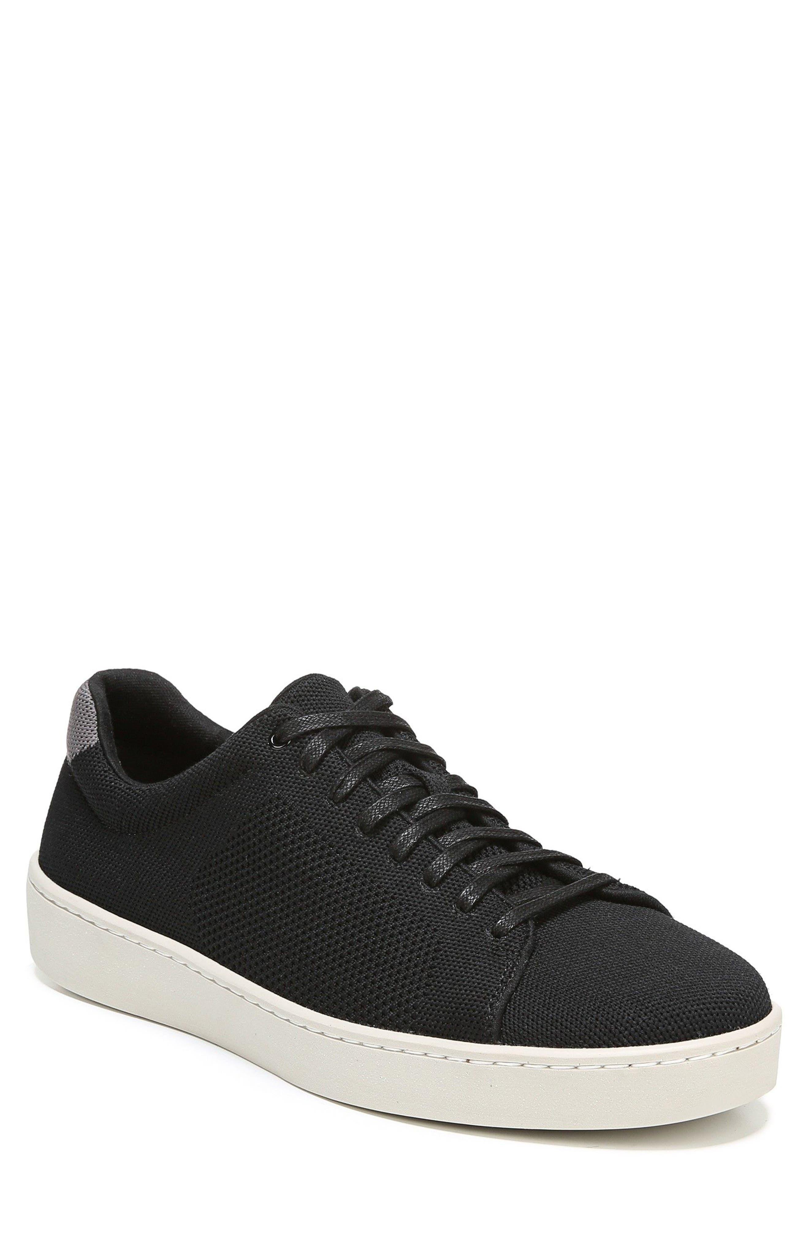 Silos Knit Low Top Sneaker,                         Main,                         color, Black/ Graphite