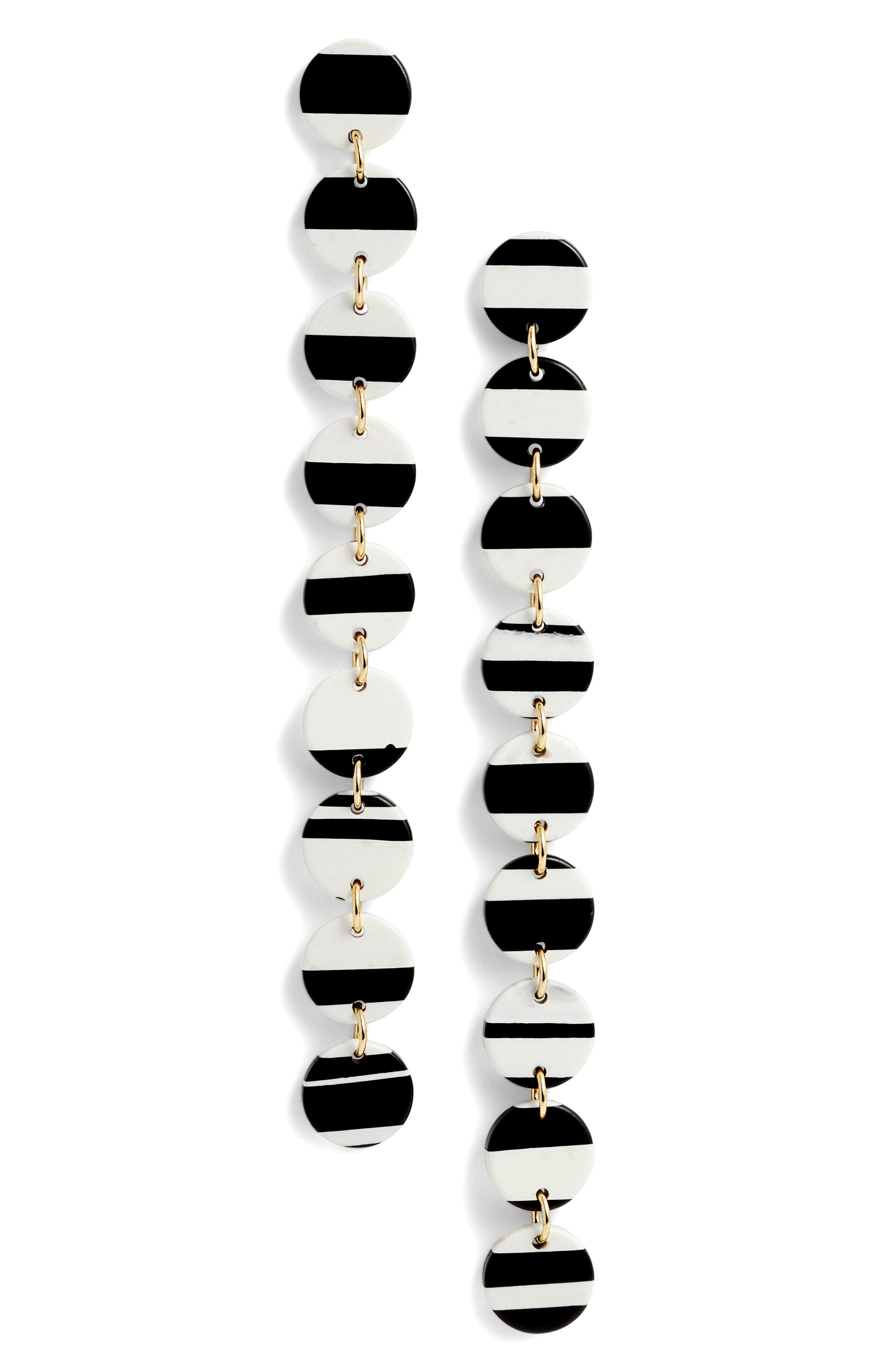 Lele Sadoughi Circle Garland Drop Earrings