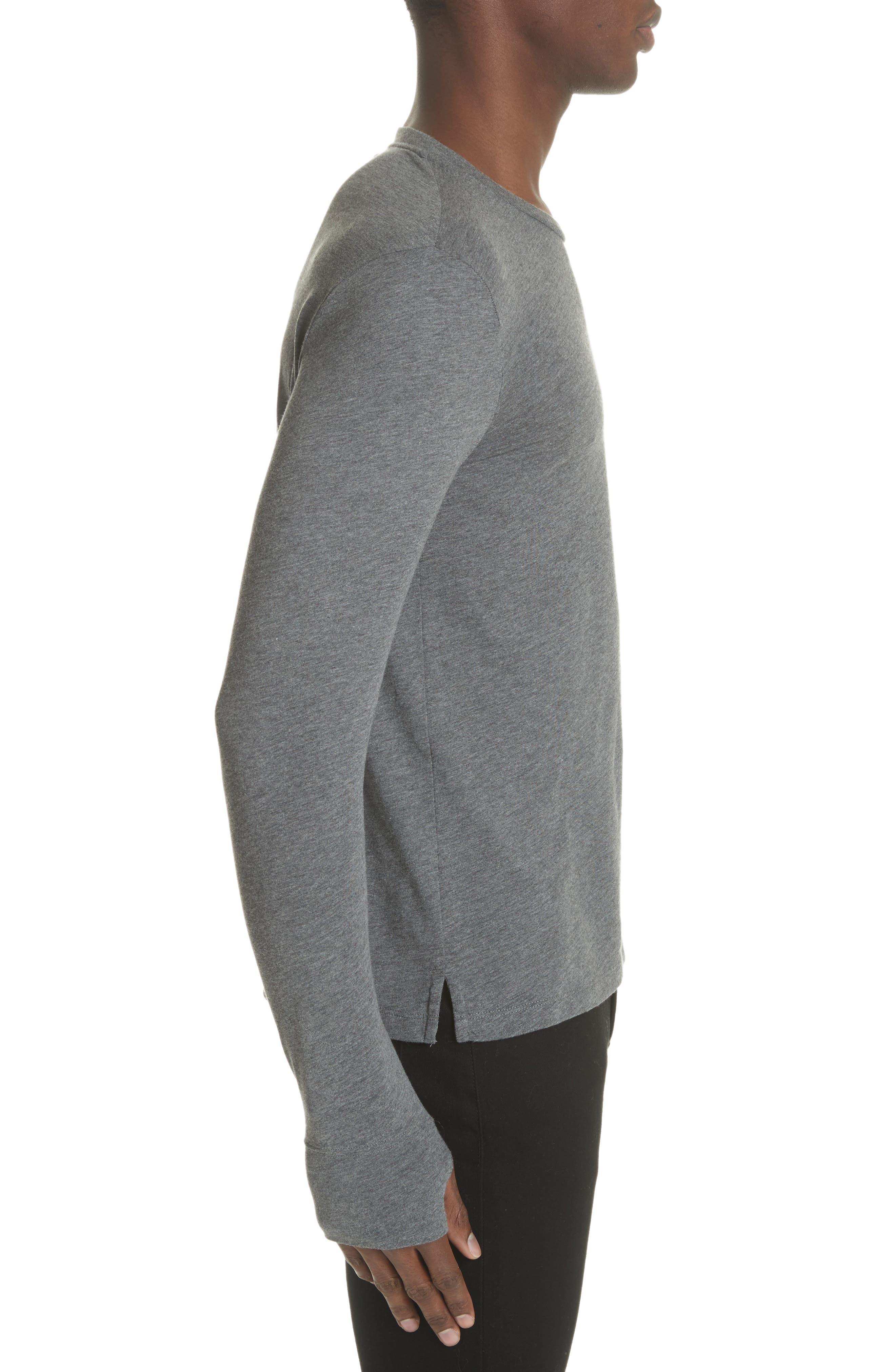Marchston Regular Fit Crewneck Shirt,                             Alternate thumbnail 3, color,                             Mid Grey Melange