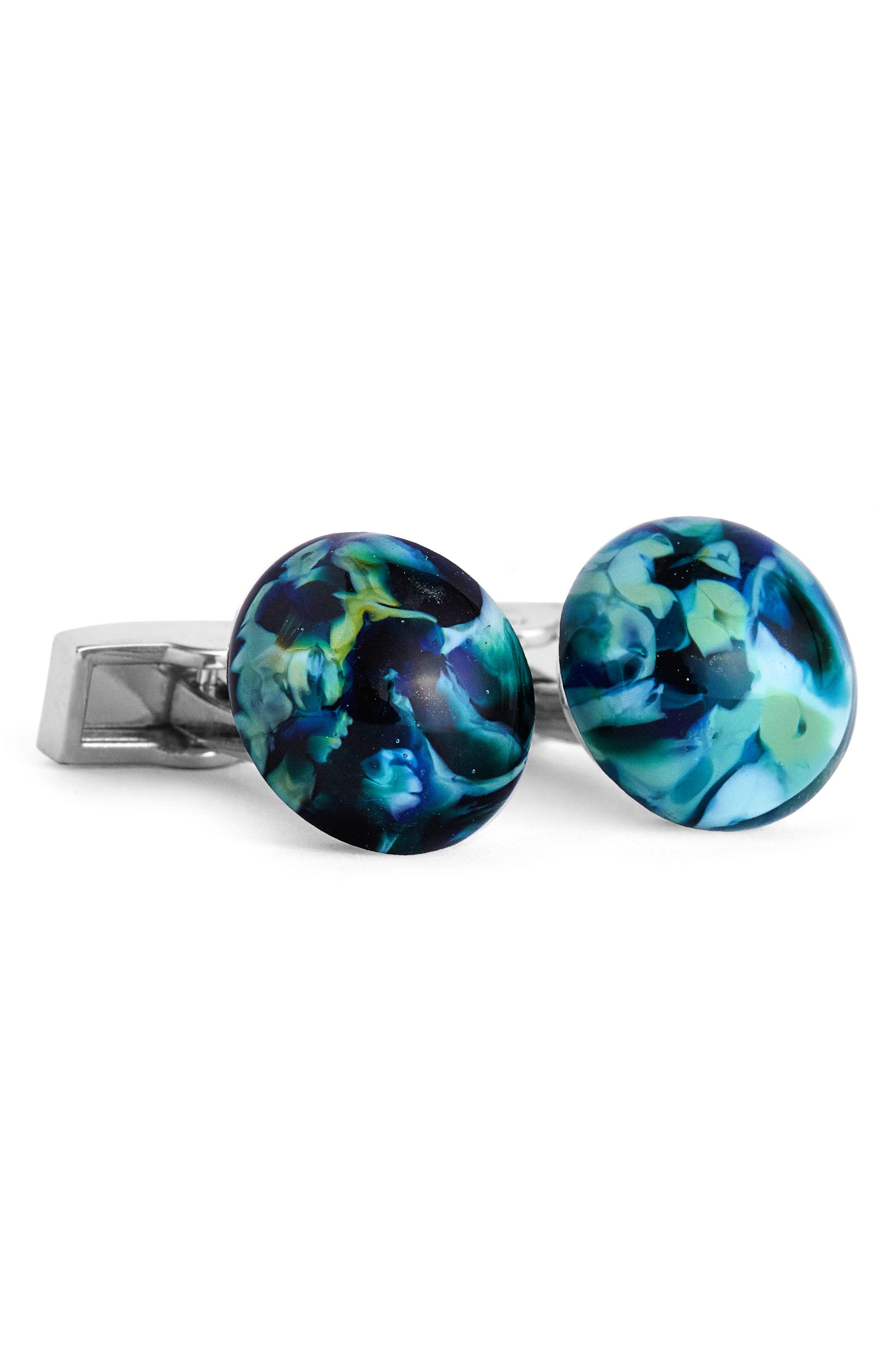 Cuff Links,                             Main thumbnail 1, color,                             Blue Multi