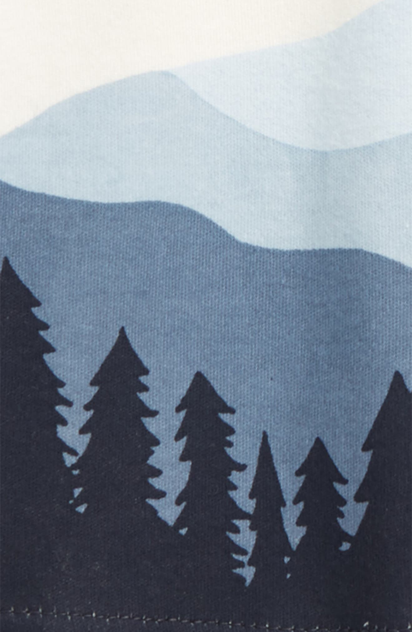 Mountain Graphic Organic Cotton T-Shirt,                             Alternate thumbnail 2, color,                             Blue/ Off White