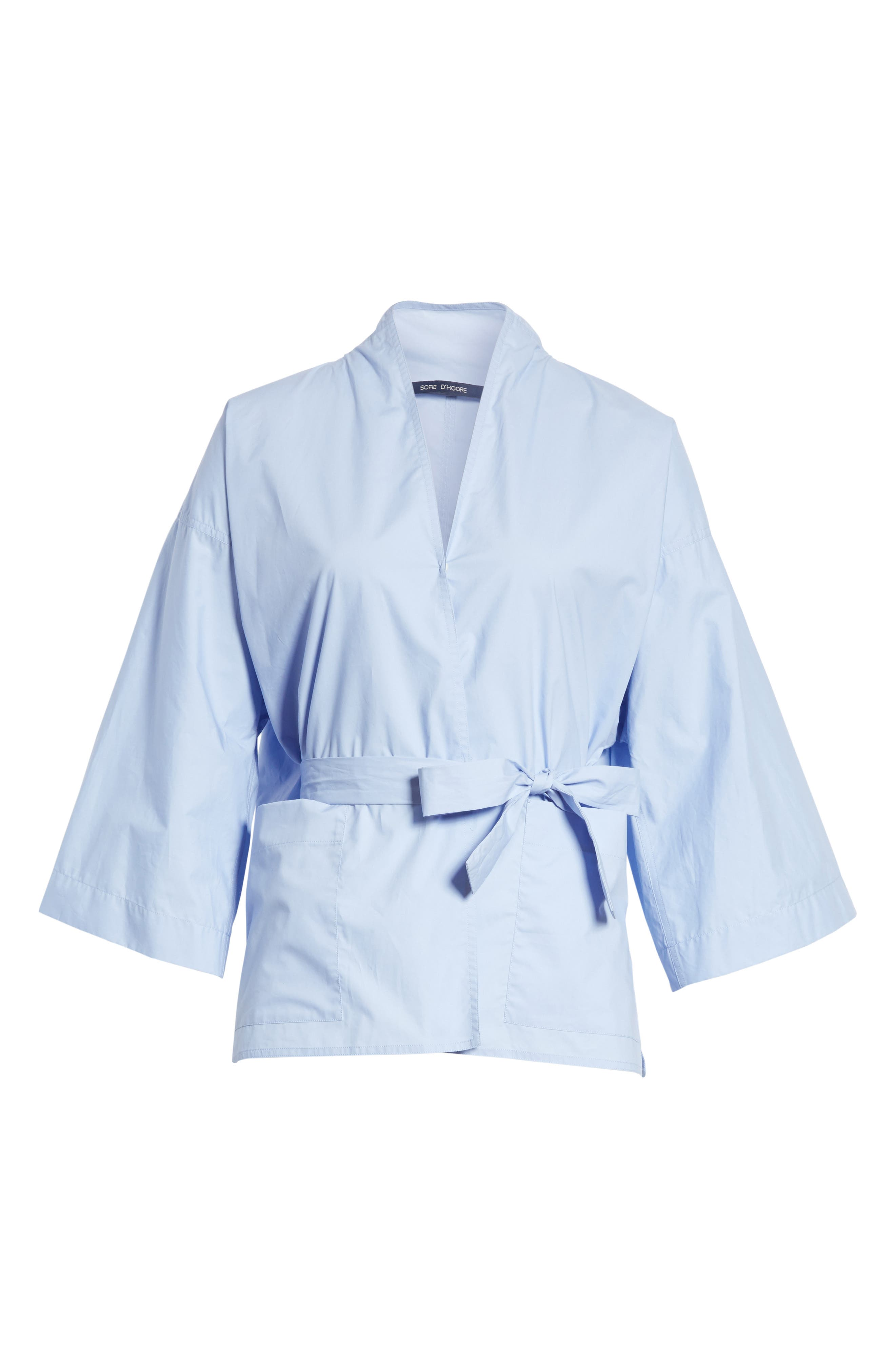 Belted Blouse,                             Alternate thumbnail 6, color,                             Dragee