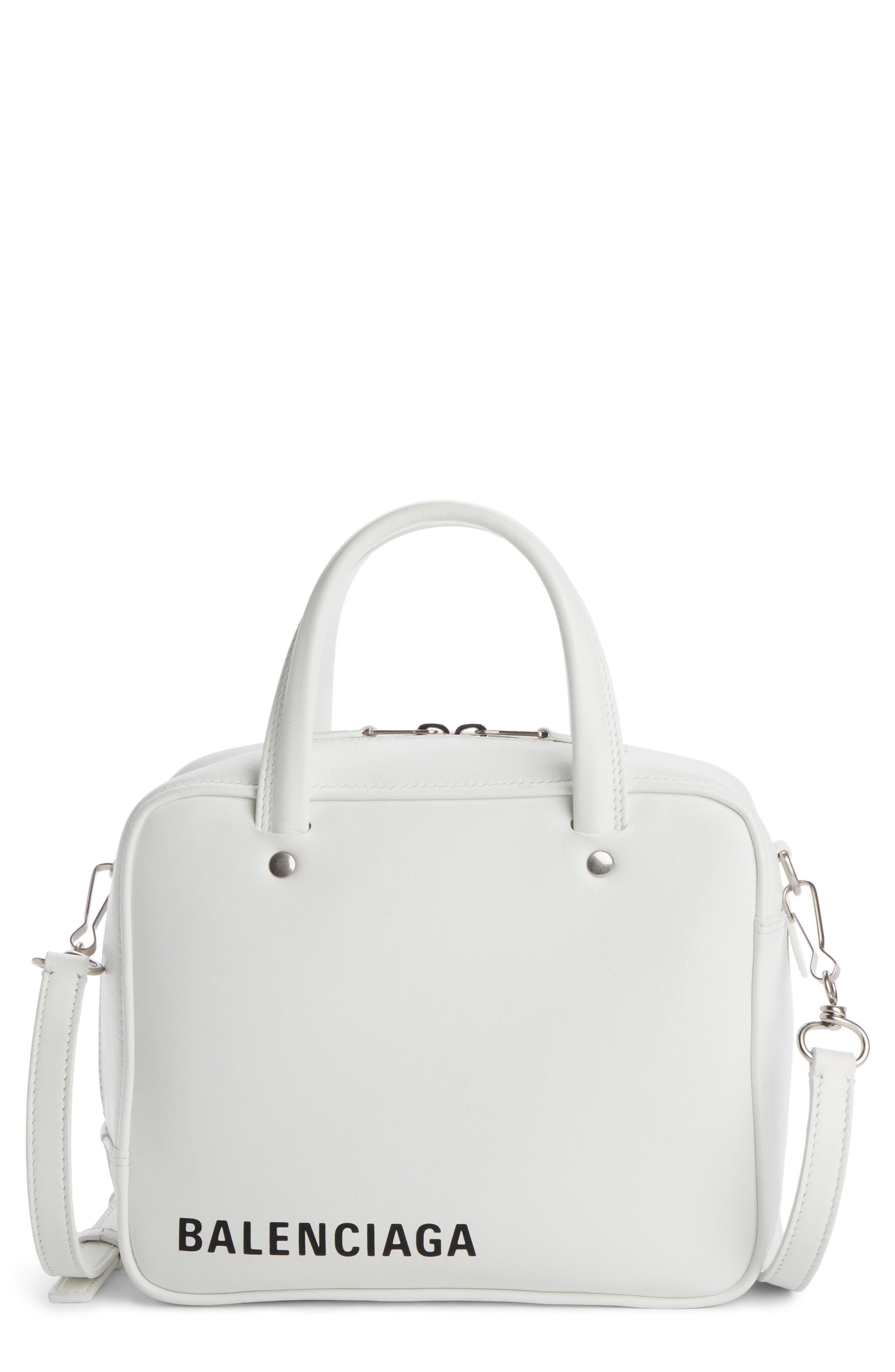 Extra Small Triangle Square AJ Bag,                         Main,                         color, Blanc