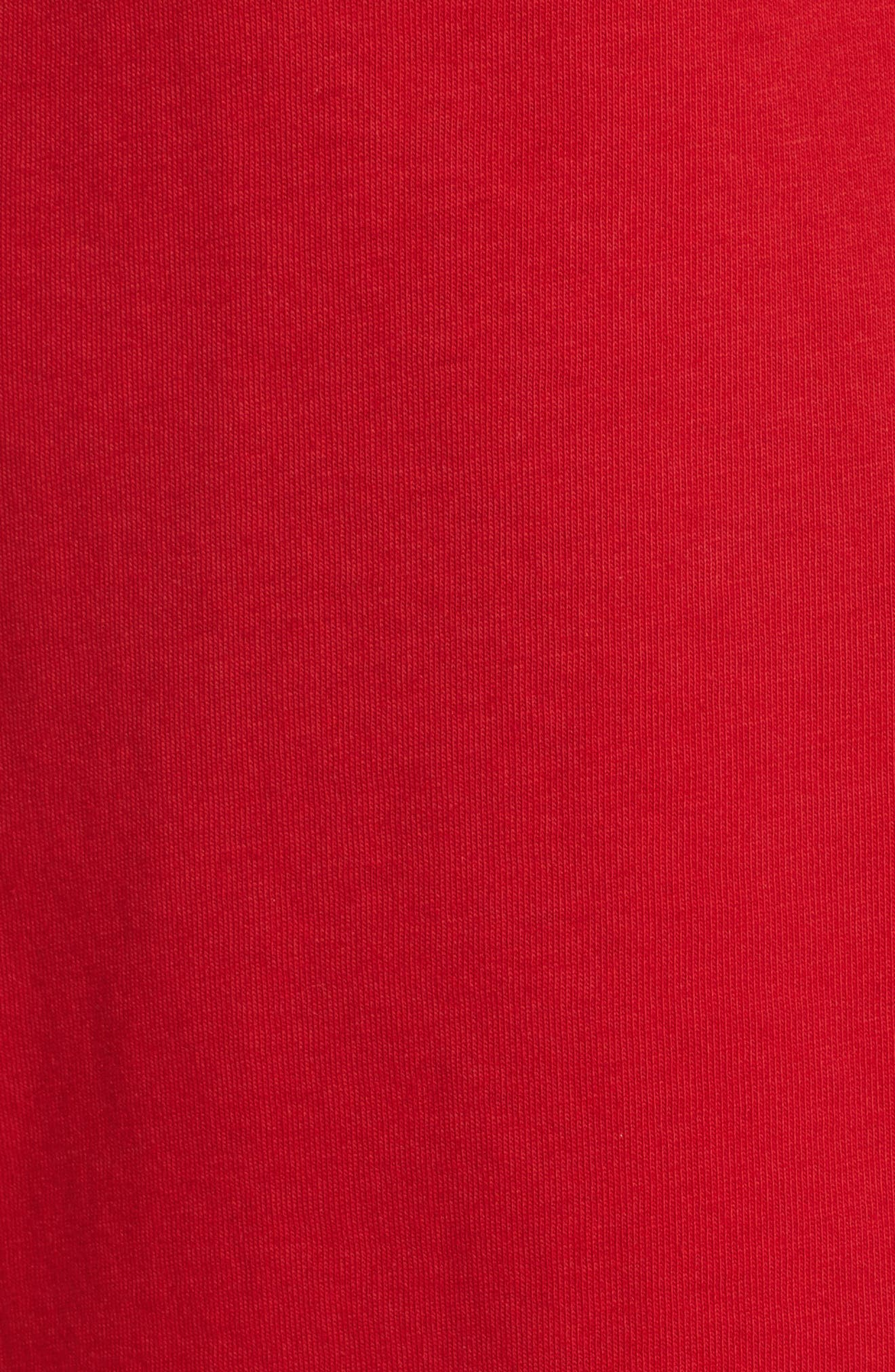 Logo Tee,                             Alternate thumbnail 5, color,                             Torch Red