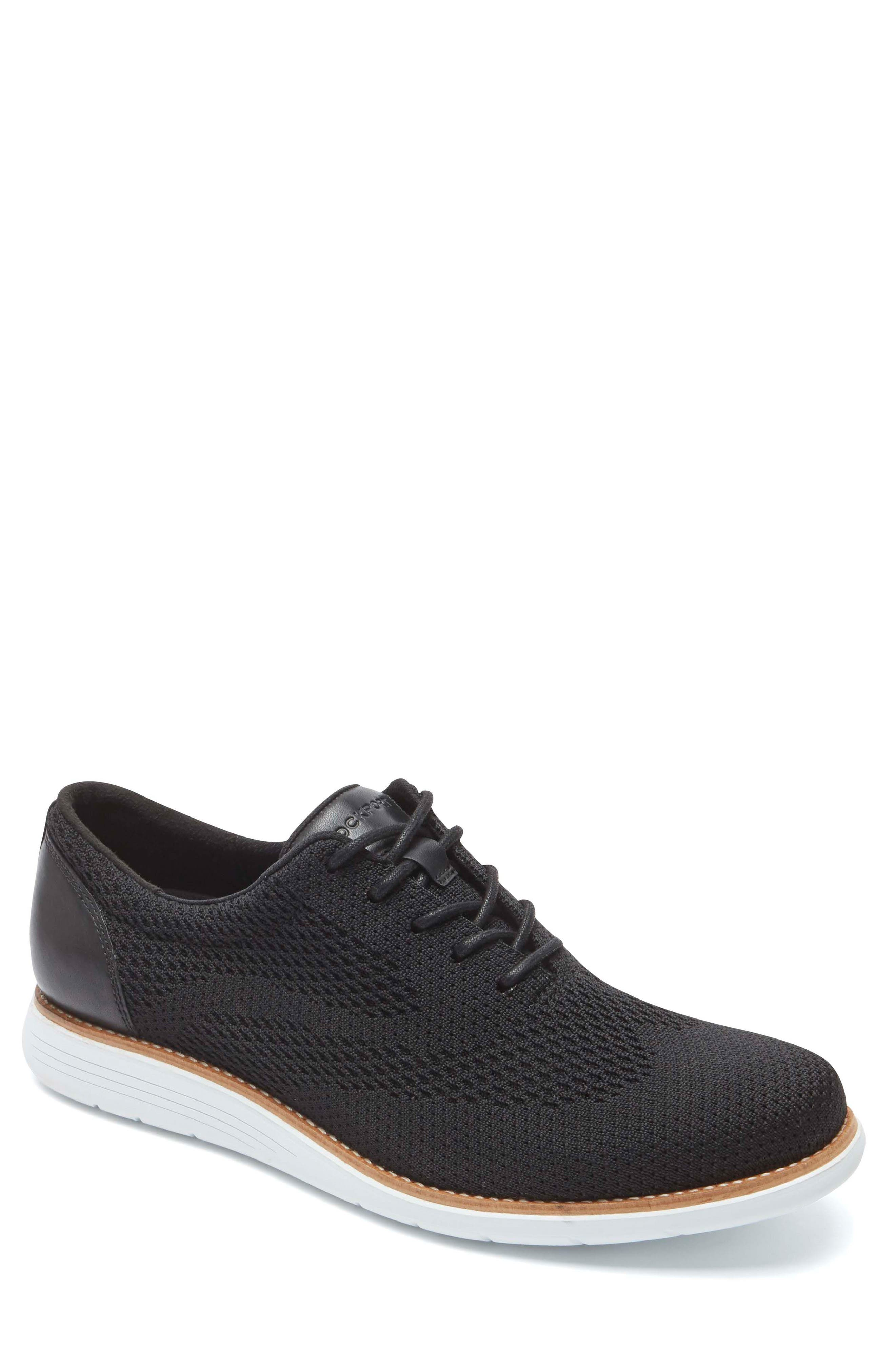 Total Motion Sport Oxford,                             Main thumbnail 1, color,                             Black Leather