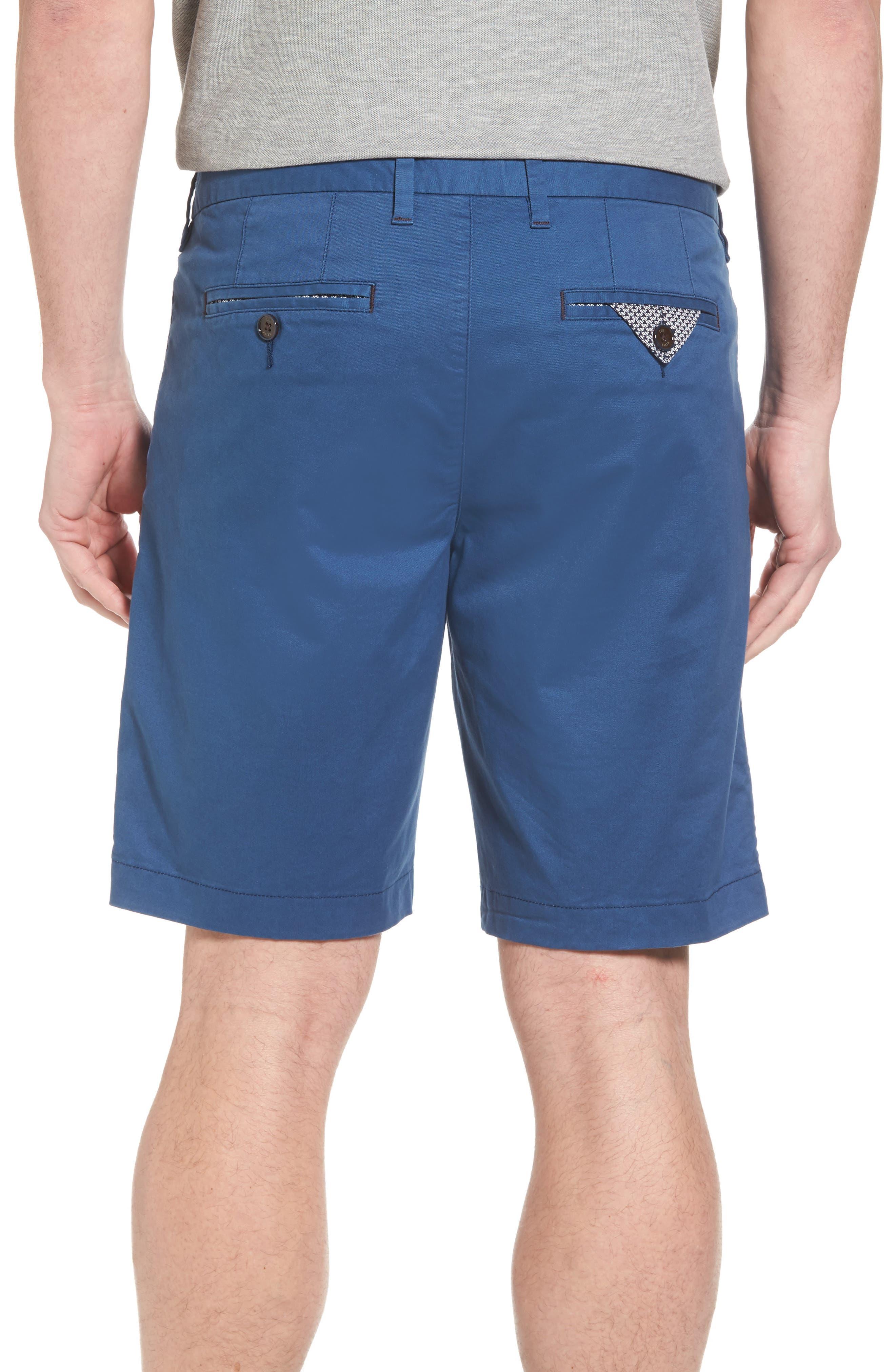 Proshor Slim Fit Chino Shorts,                             Alternate thumbnail 3, color,                             Dark Blue