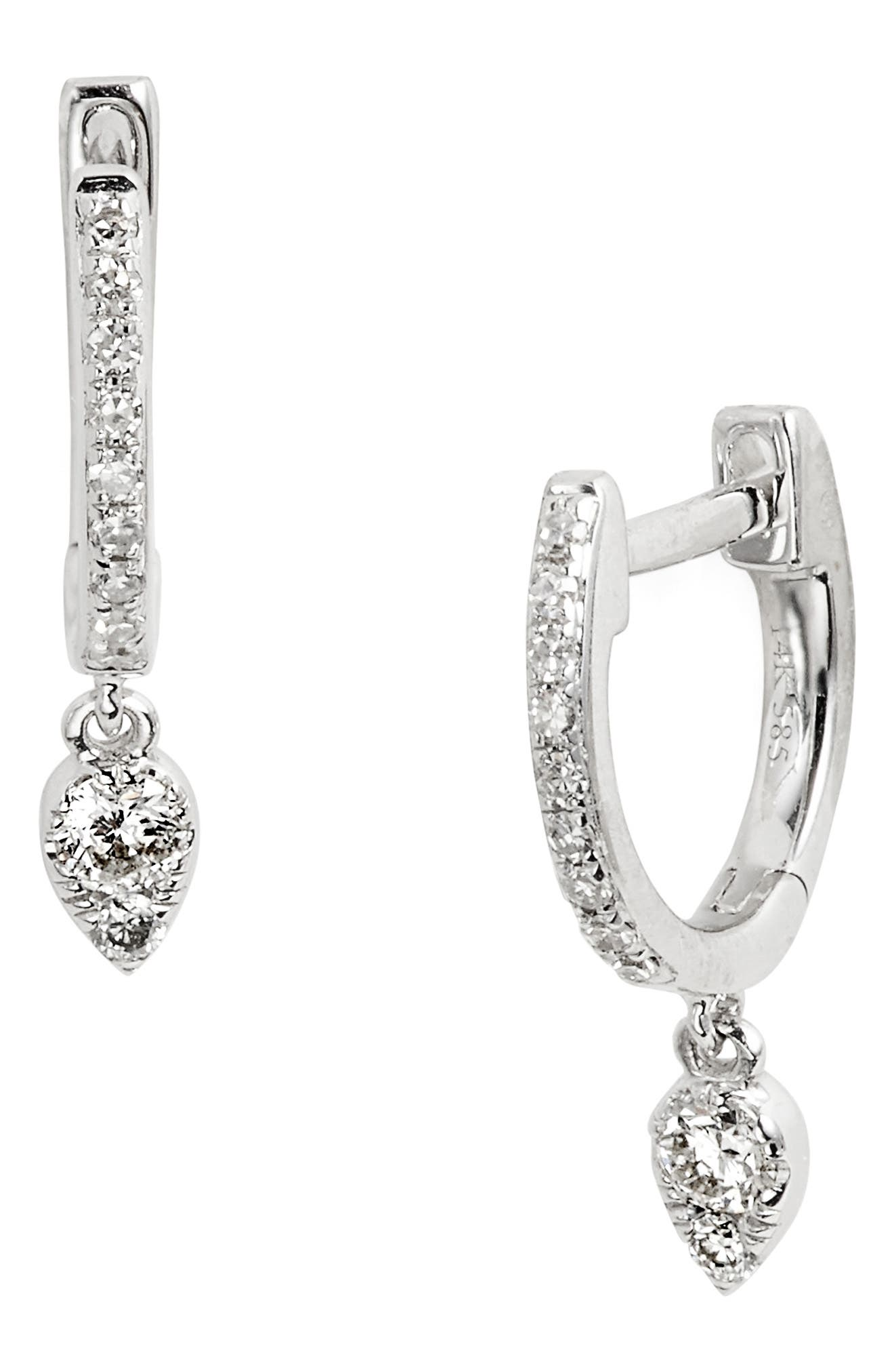 EF COLLECTION Diamond Teardrop Earrings