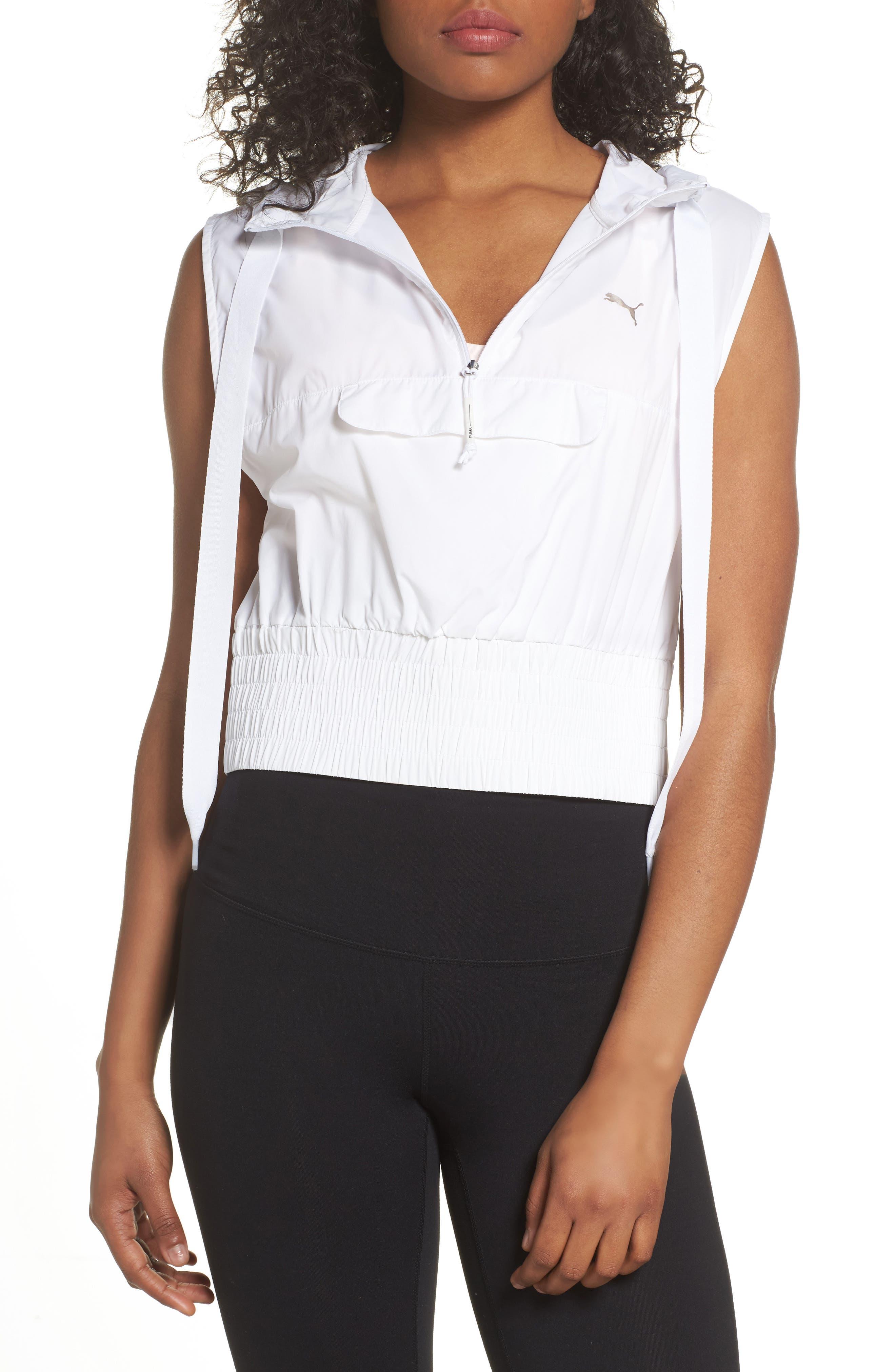En Pointe Half Zip Pullover,                         Main,                         color, Puma White