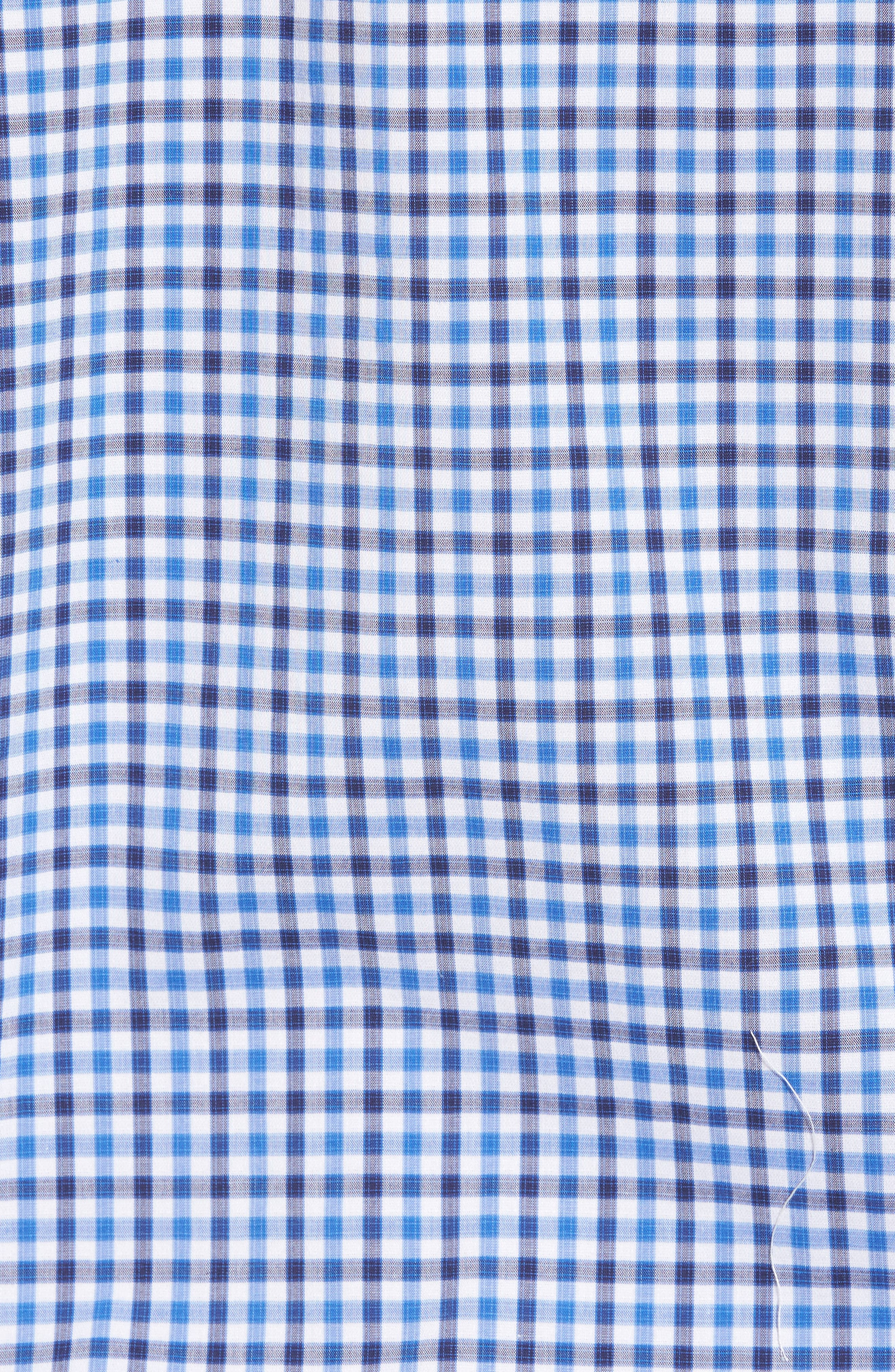 Tech-Smart Regular Fit Check Sport Shirt,                             Alternate thumbnail 5, color,                             Blue Camp Navy Check