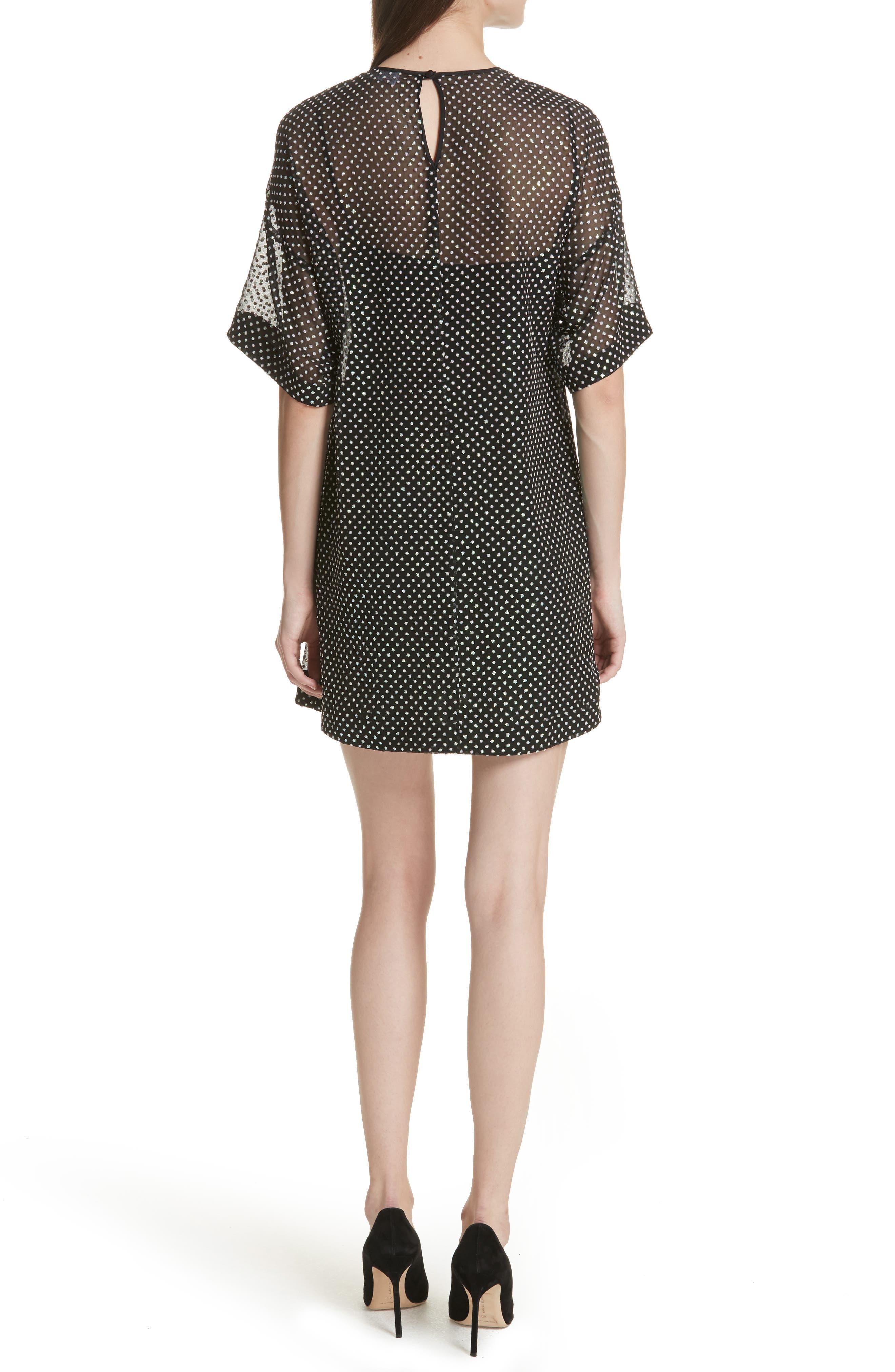 Creponne T-Shirt Dress,                             Alternate thumbnail 2, color,                             Black