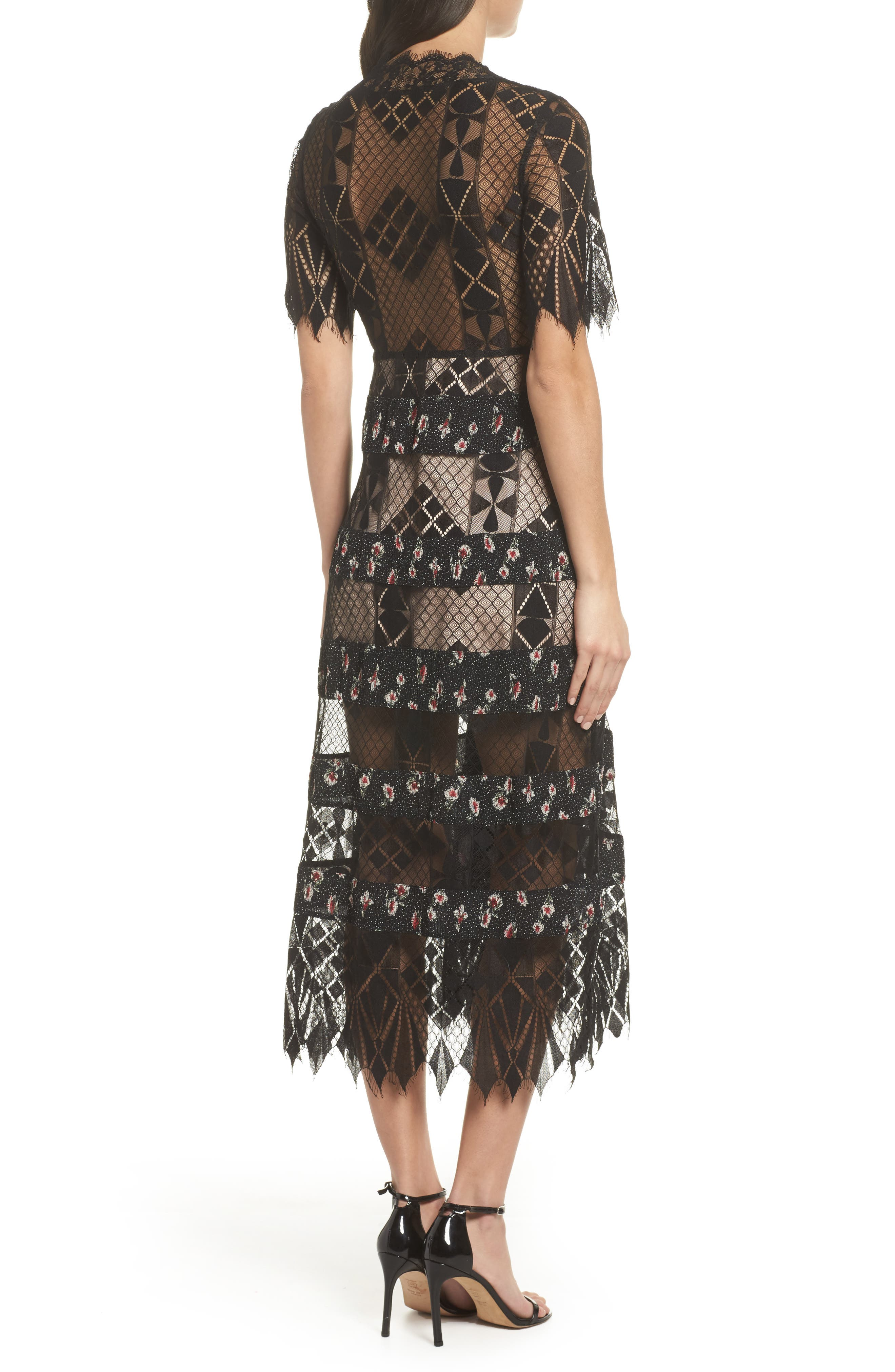 Alternate Image 3  - Foxiedox Sweetwater Stripe Midi Dress