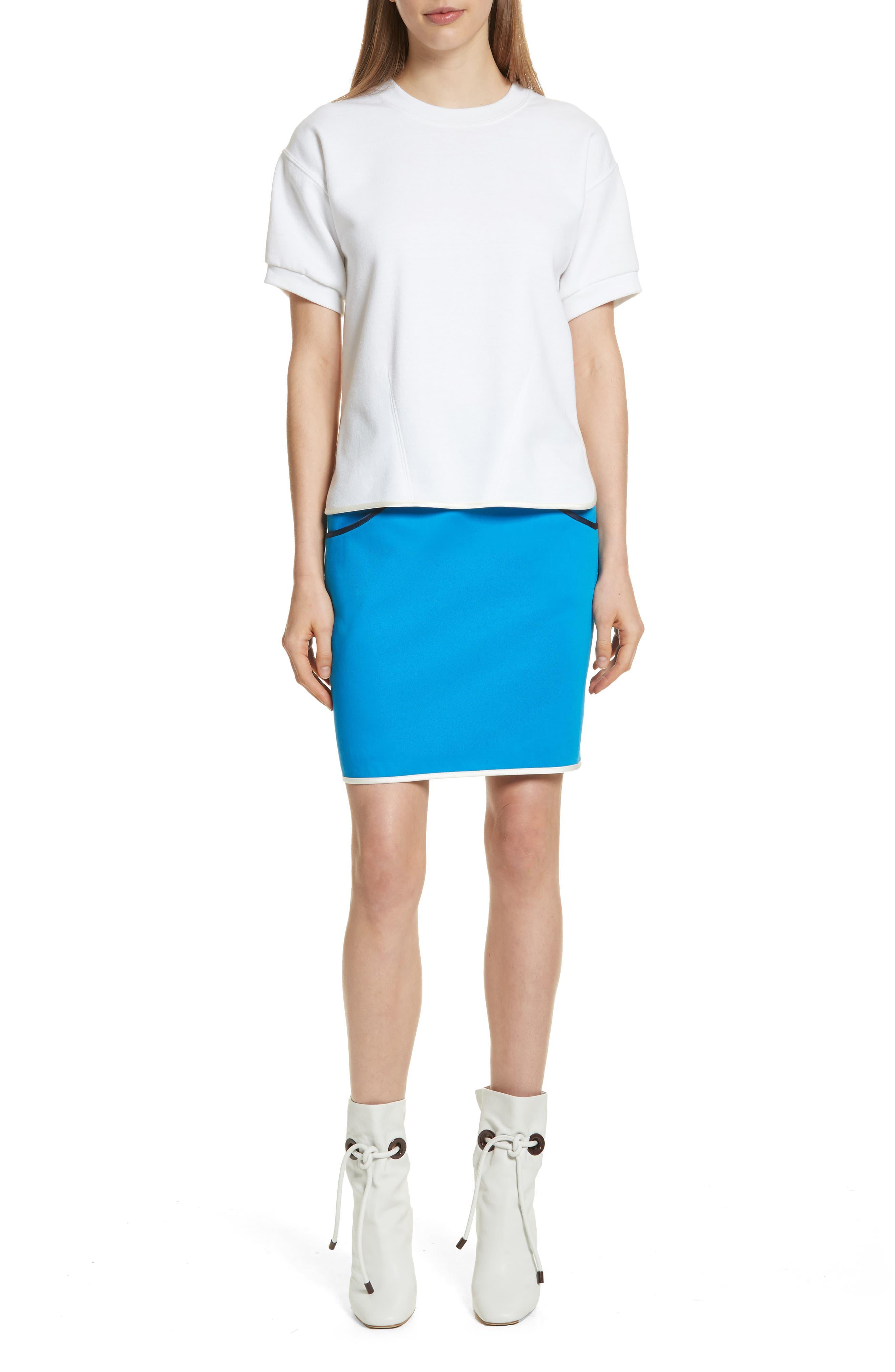 Alternate Image 7  - Harvey Faircloth Piping Detail Skirt