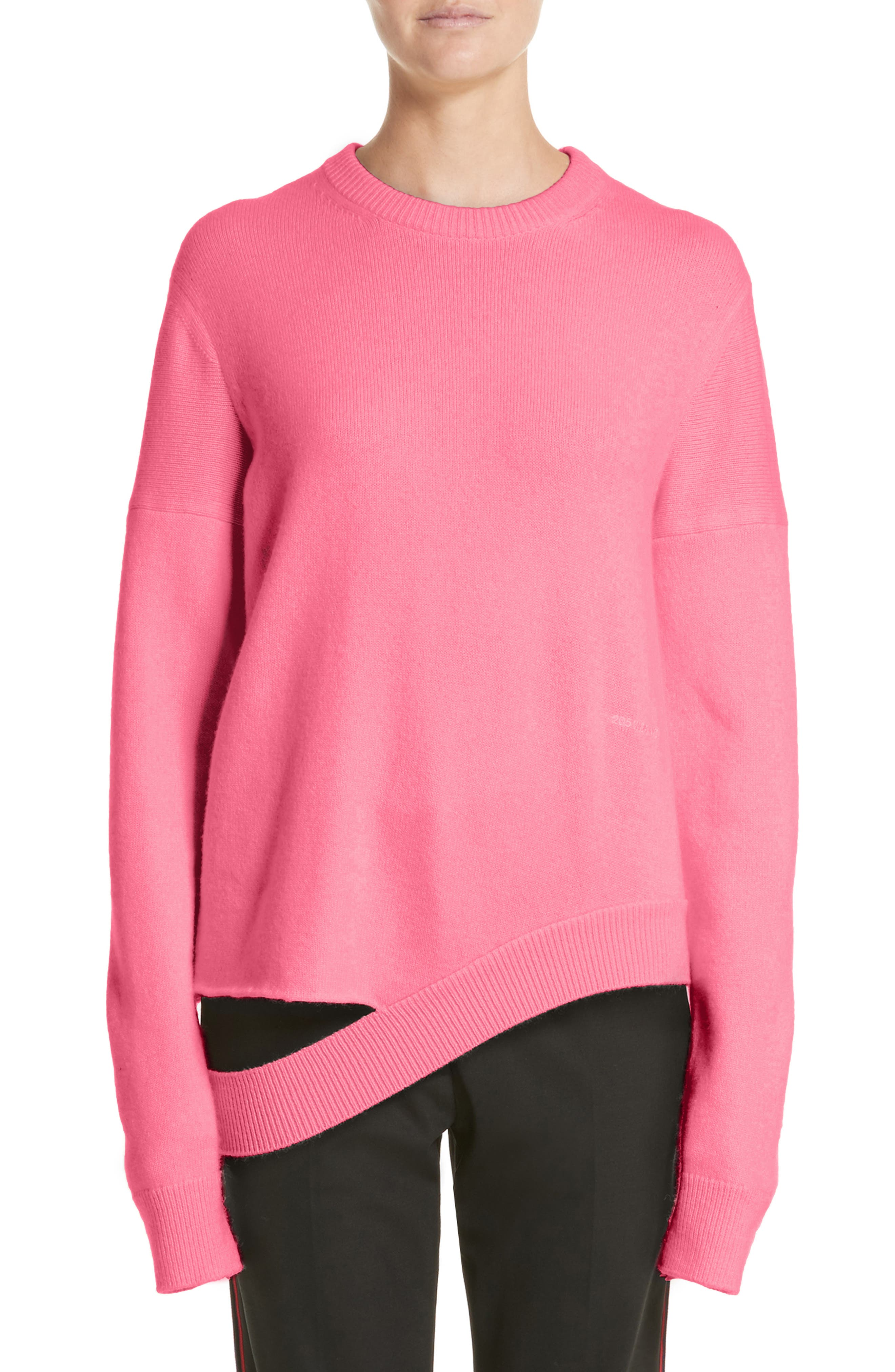 Logo Cashmere Sweater,                         Main,                         color, Begonia