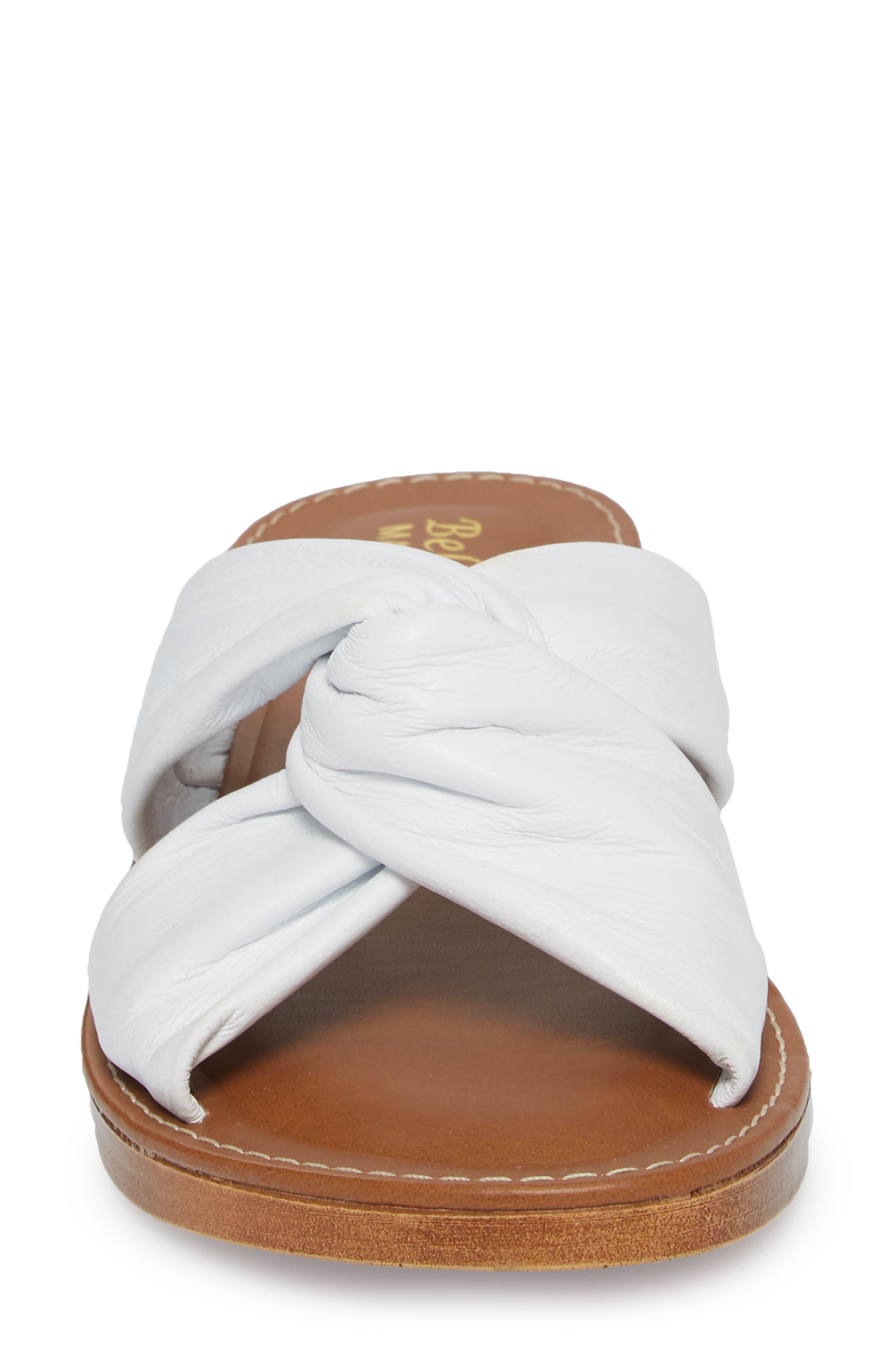 Noa Slide Sandal,                             Alternate thumbnail 4, color,                             White Leather