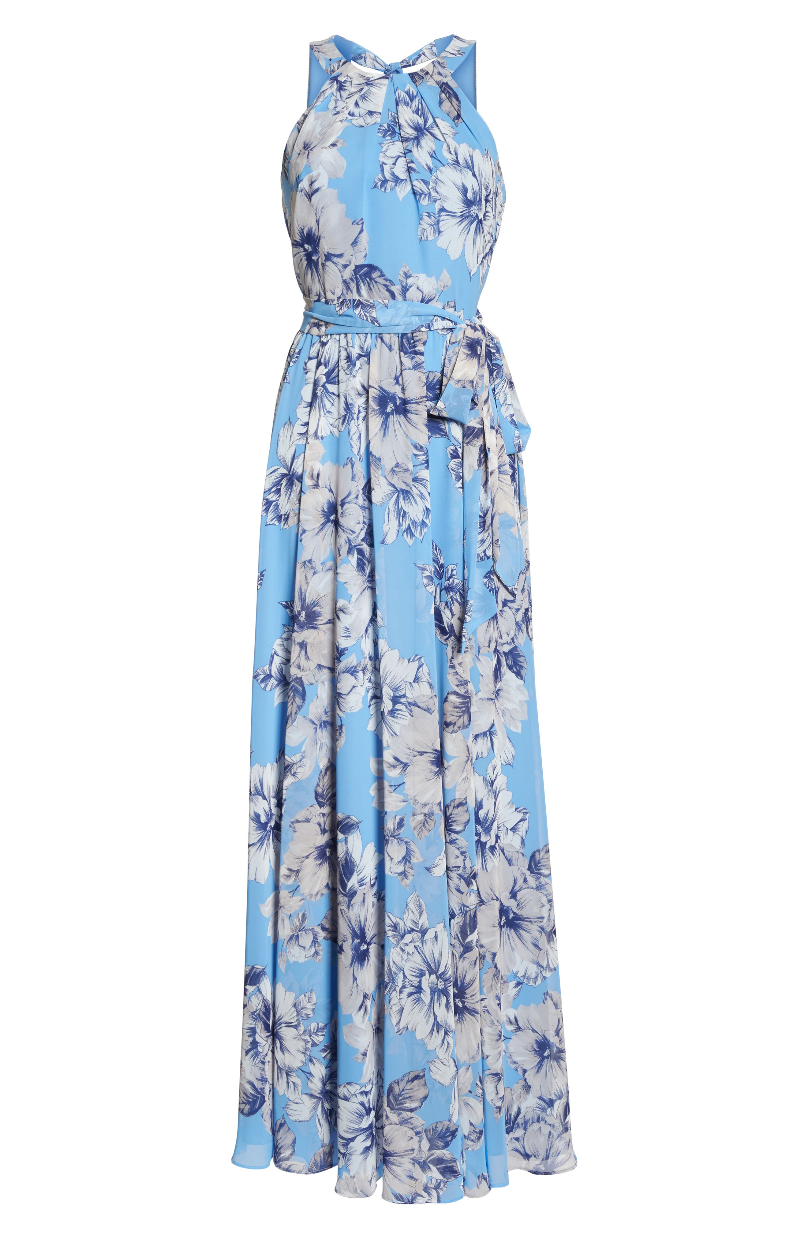 Halter Maxi Dress,                             Alternate thumbnail 6, color,                             Blue