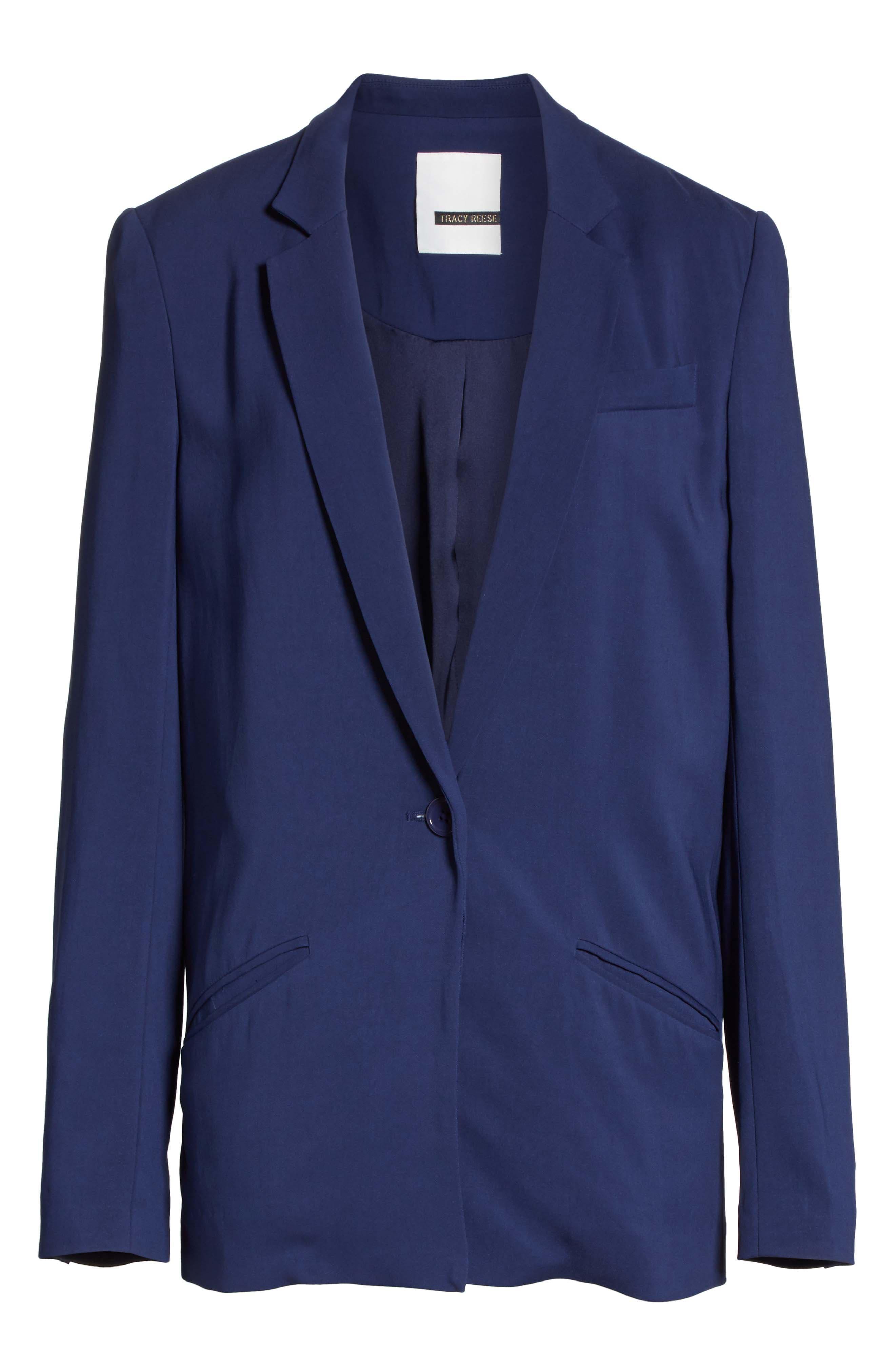 Boxy Suit Jacket,                             Alternate thumbnail 6, color,                             India Ink