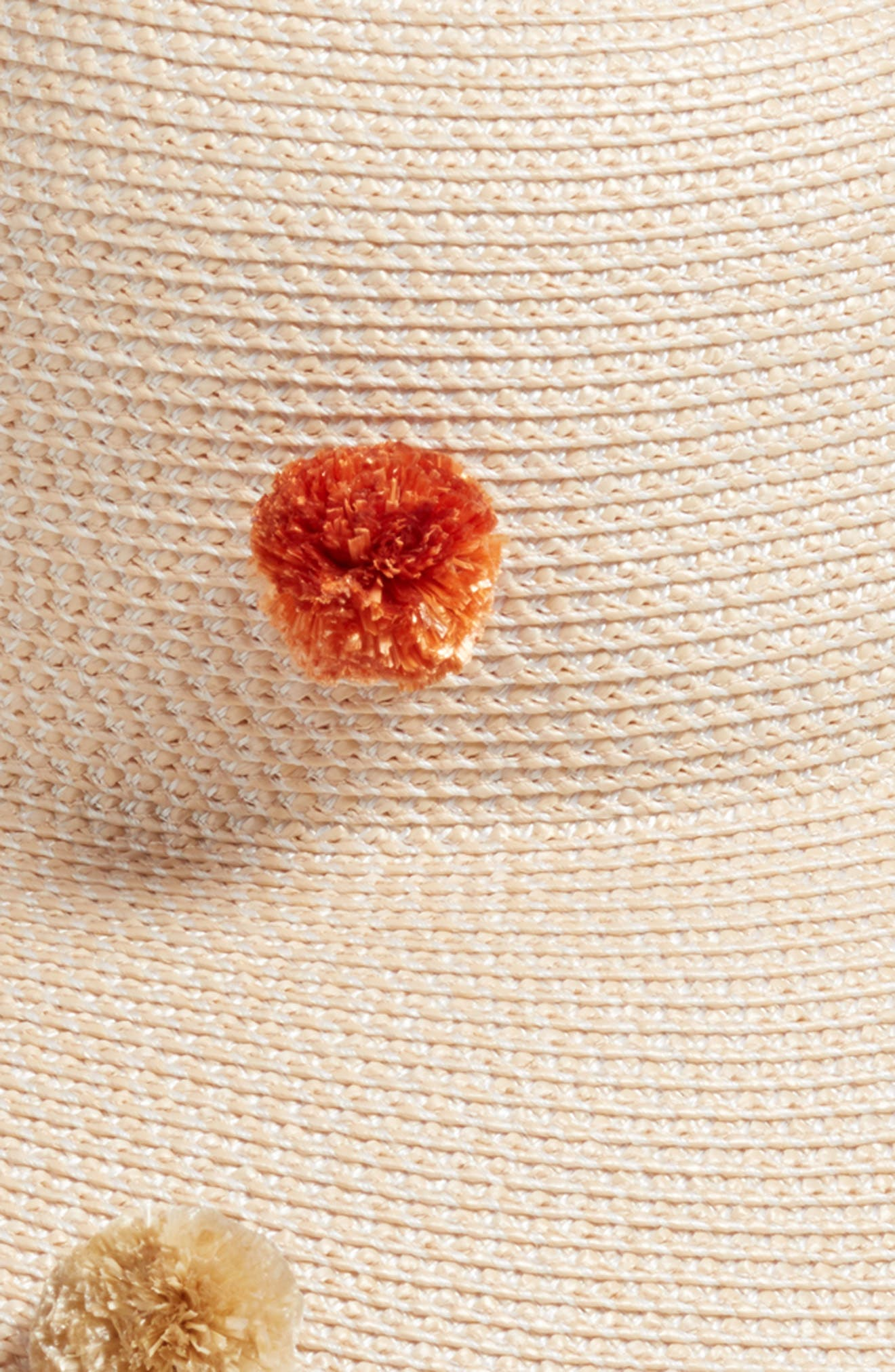 Pompom Bella Squishee<sup>®</sup> Sun Hat,                             Alternate thumbnail 2, color,                             Cream Mix