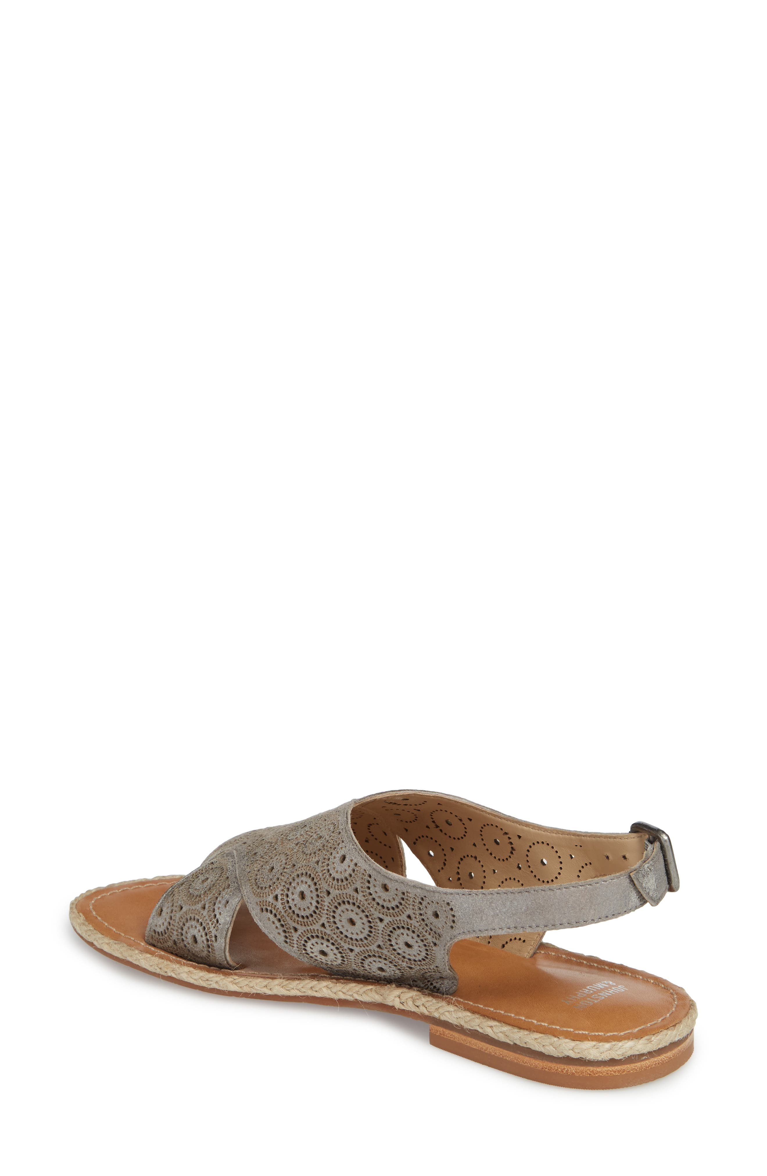 Willow Flat Sandal,                             Alternate thumbnail 2, color,                             Pewter Leather