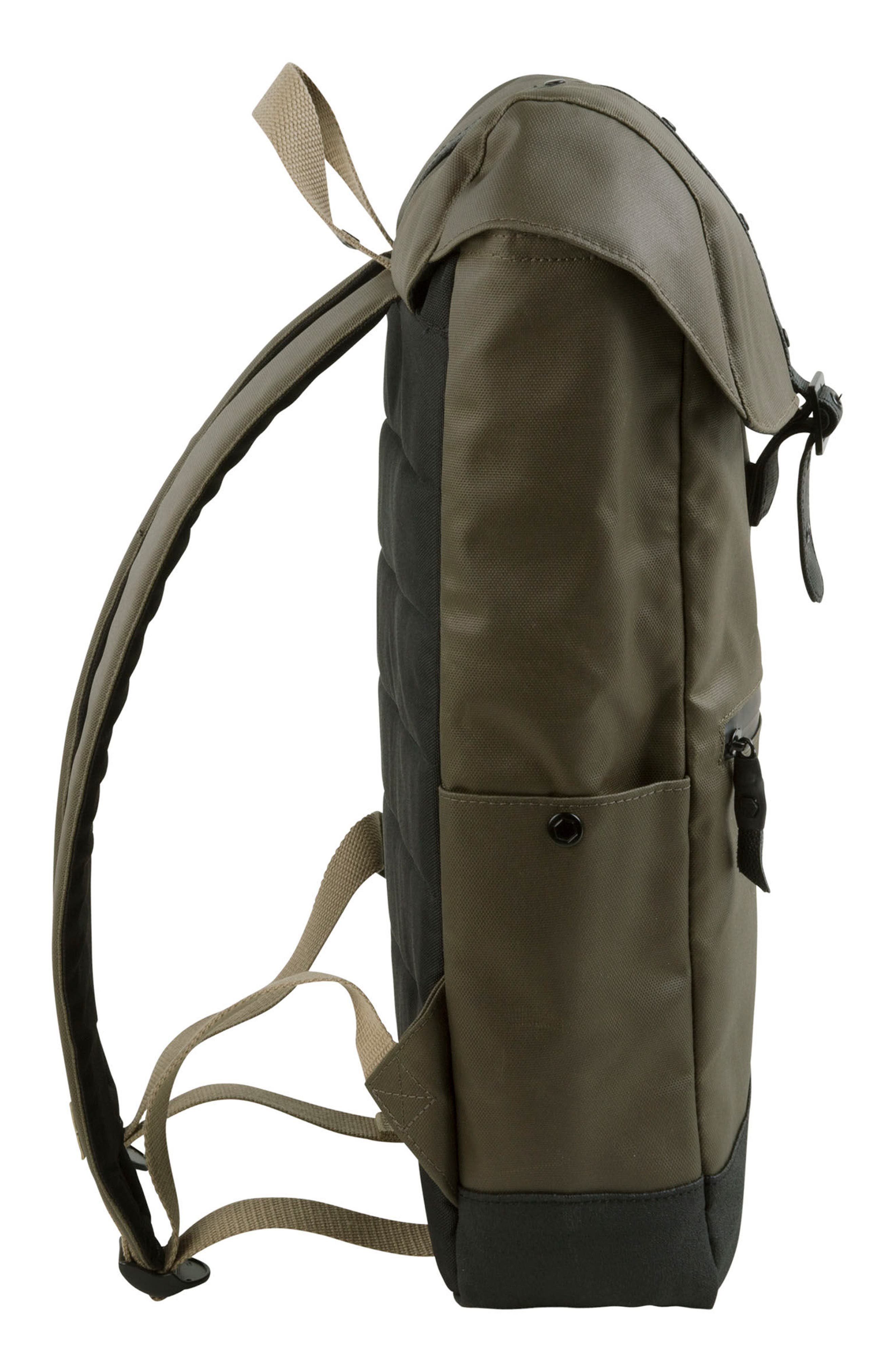 'Alliance' Water Resistant Backpack,                             Alternate thumbnail 4, color,                             Olive